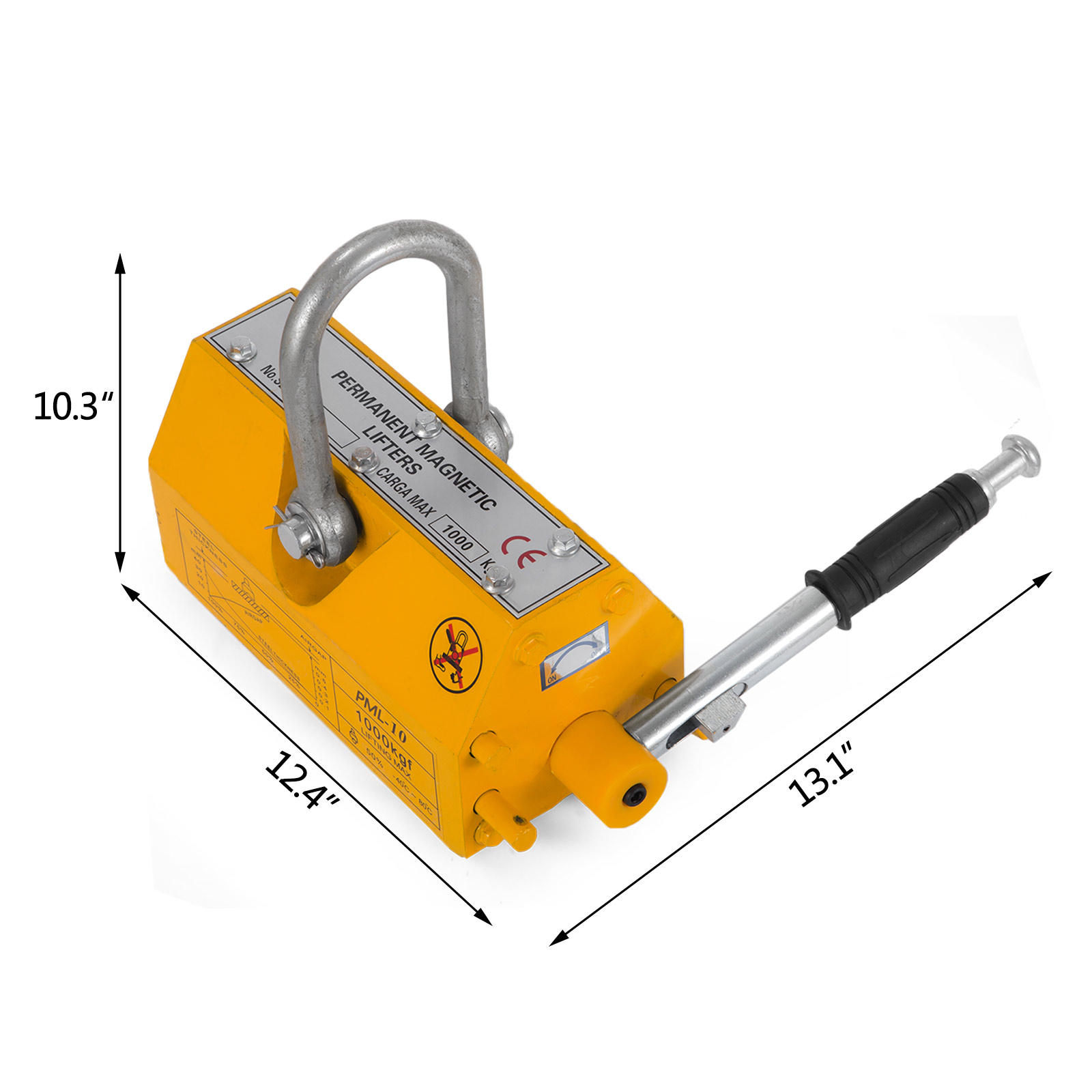 100-300-600-1000KG-Steel-Magnetic-Lifter-Heavy-Duty-Crane-Hoist-Lifting-Magnet miniature 62
