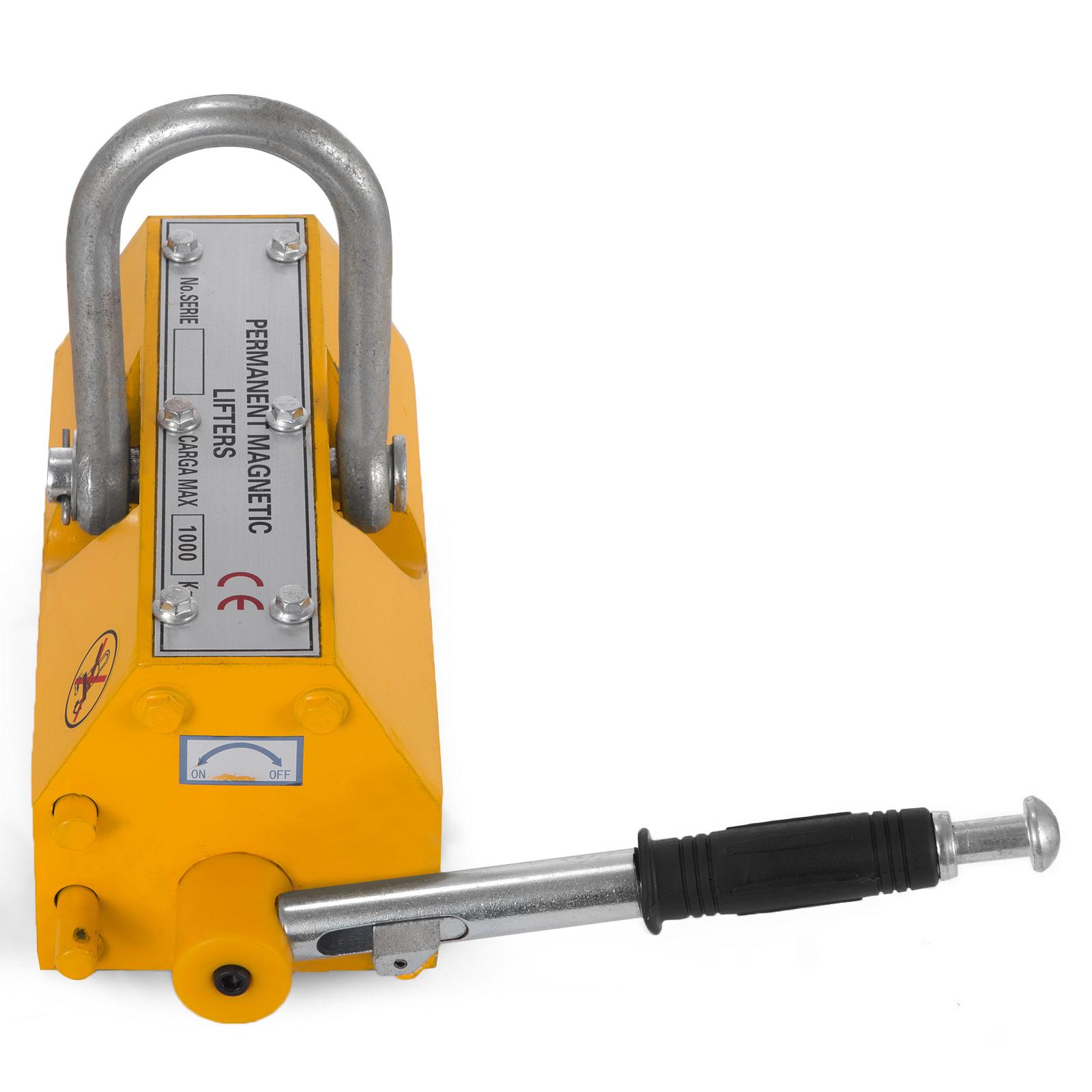 100-300-600-1000KG-Steel-Magnetic-Lifter-Heavy-Duty-Crane-Hoist-Lifting-Magnet miniature 63