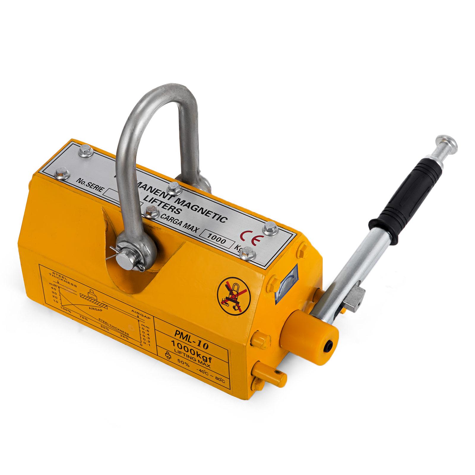 100-300-600-1000KG-Steel-Magnetic-Lifter-Heavy-Duty-Crane-Hoist-Lifting-Magnet miniature 65