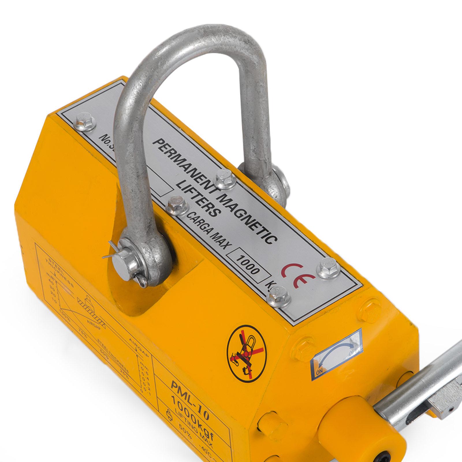 100-300-600-1000KG-Steel-Magnetic-Lifter-Heavy-Duty-Crane-Hoist-Lifting-Magnet miniature 67