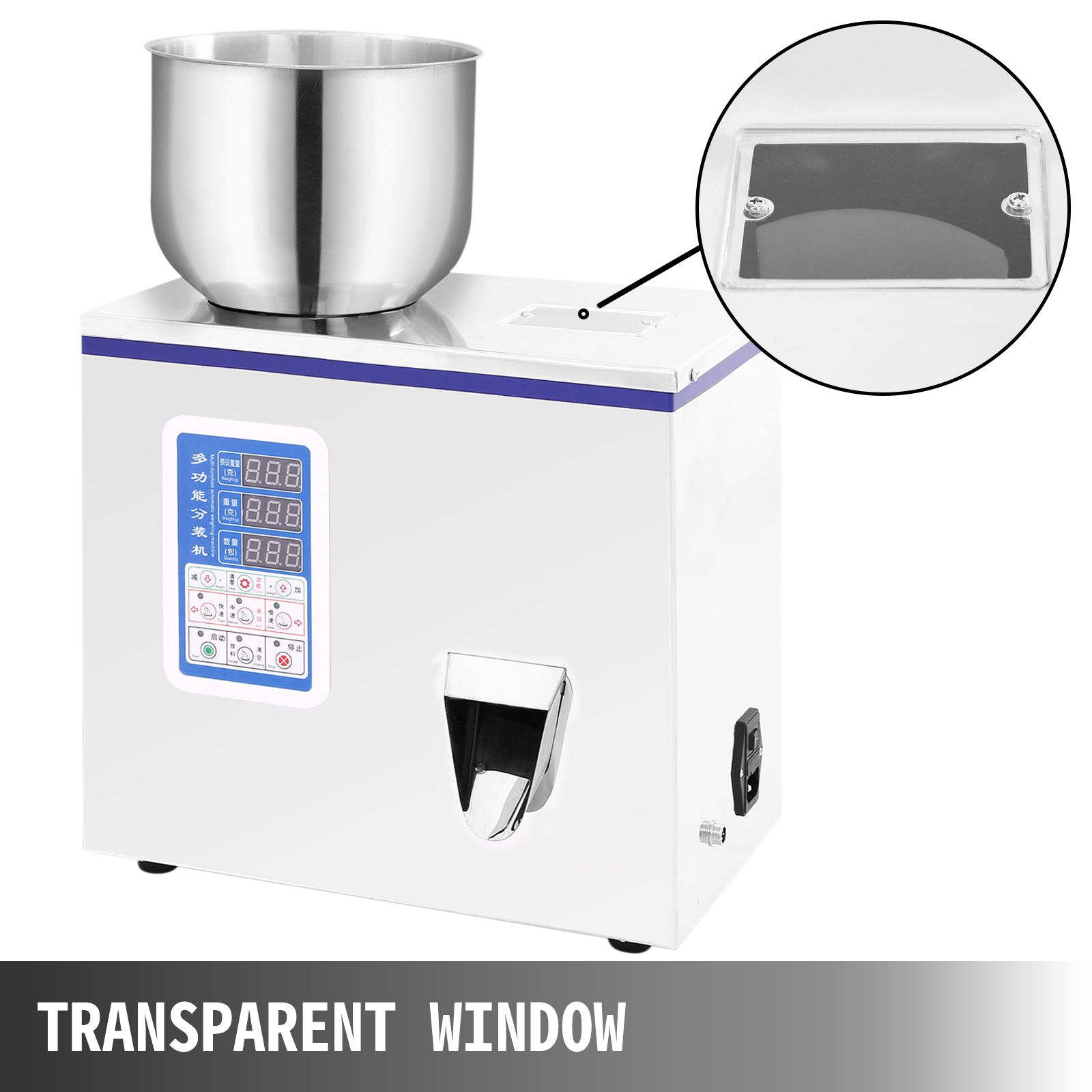 2-100g Powder Particle Subpackage Device Spices Weighing And Filling Machine