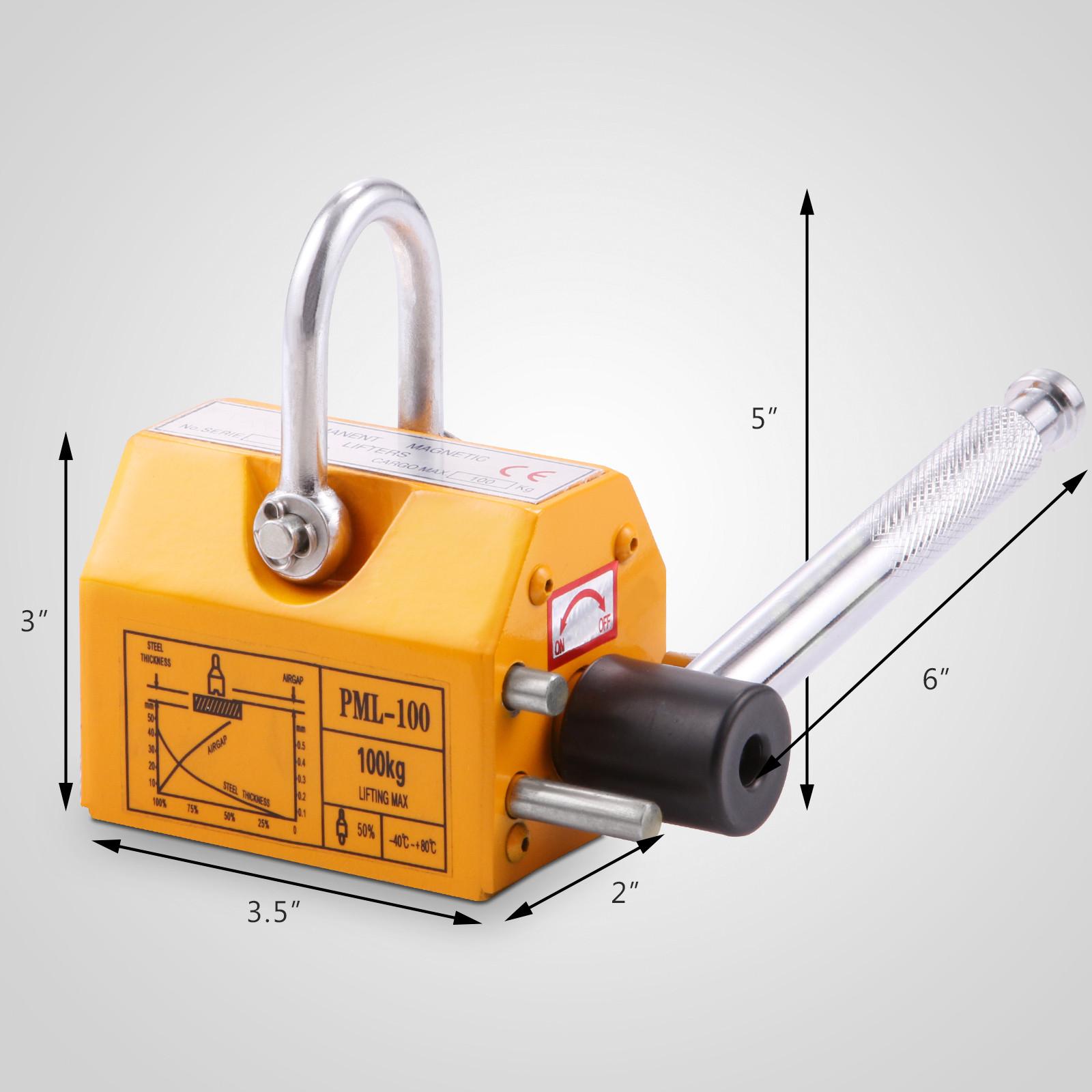 100-300-600-1000KG-Steel-Magnetic-Lifter-Heavy-Duty-Crane-Hoist-Lifting-Magnet miniature 14