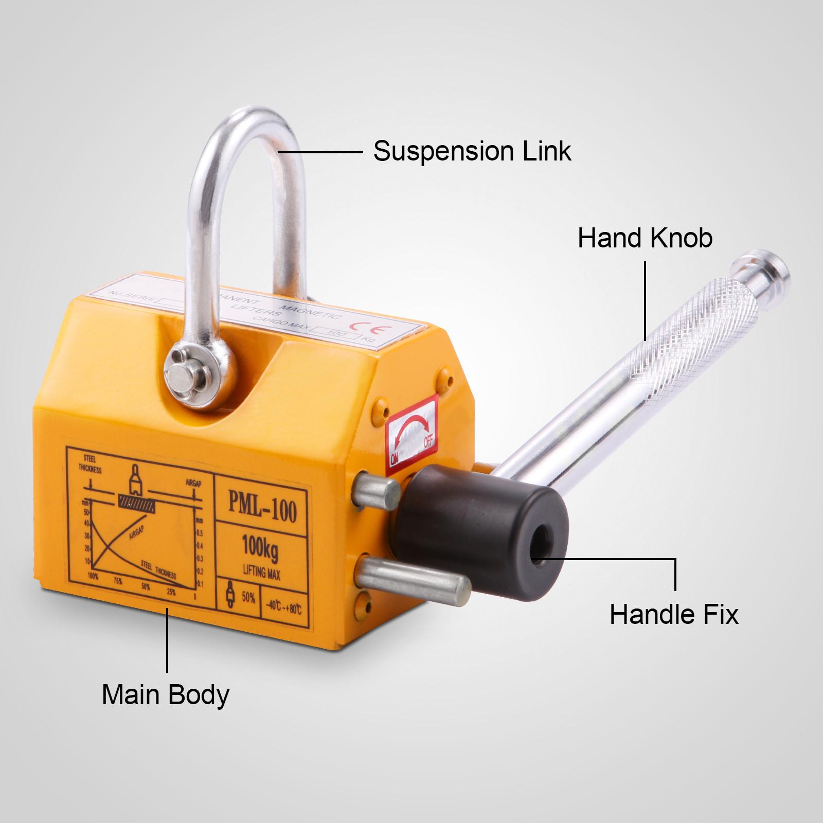 100-300-600-1000KG-Steel-Magnetic-Lifter-Heavy-Duty-Crane-Hoist-Lifting-Magnet miniature 15