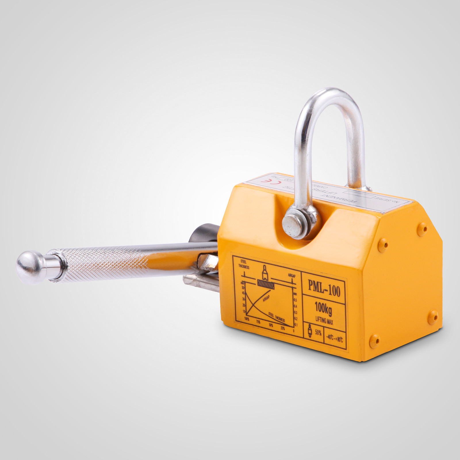 100-300-600-1000KG-Steel-Magnetic-Lifter-Heavy-Duty-Crane-Hoist-Lifting-Magnet miniature 19