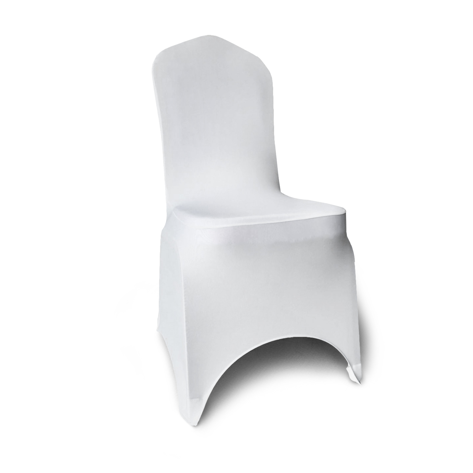 100pcs Stretch Spandex White Folding Chair Covers Tidy