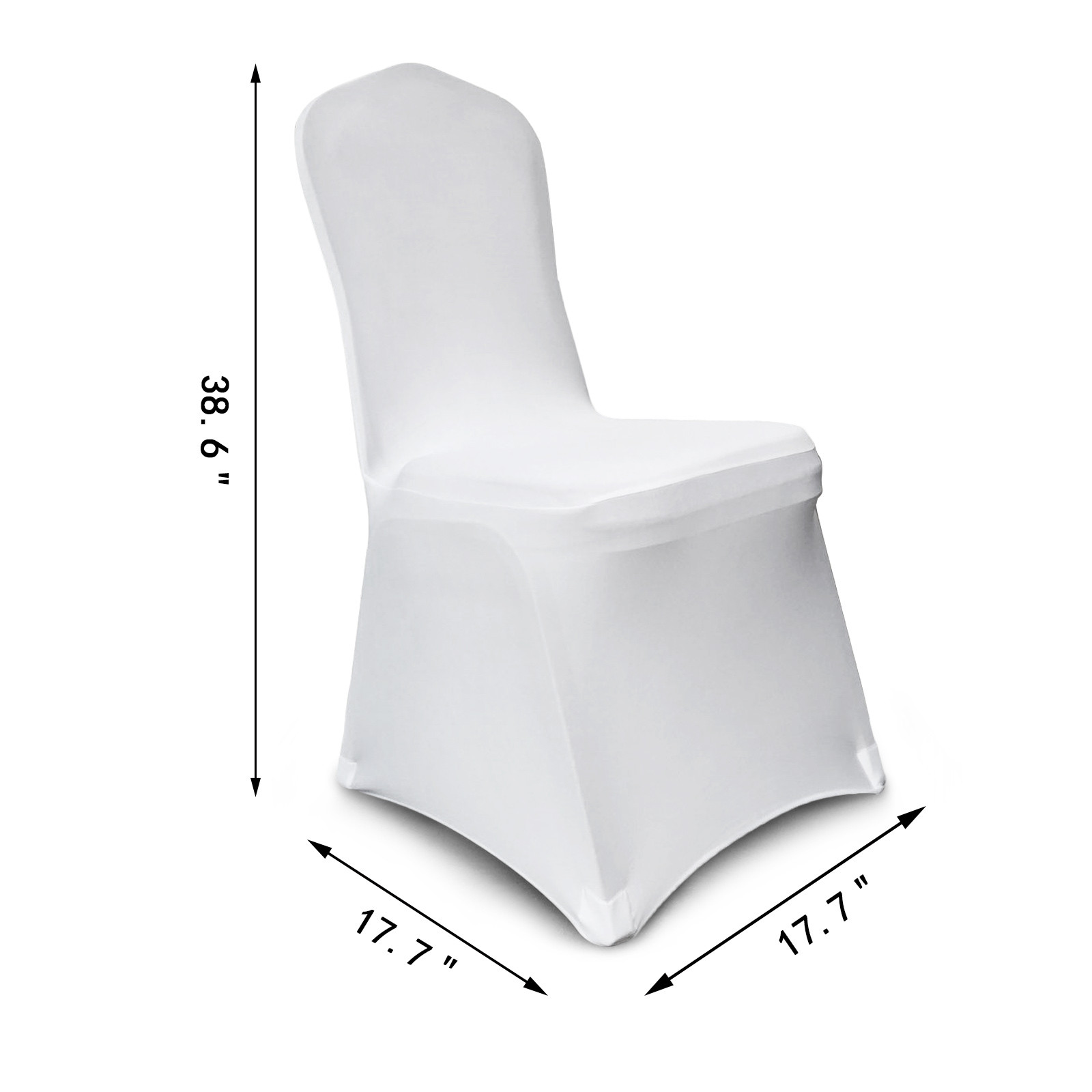 50 100 Chair Covers Spandex Lycra White Black Covers