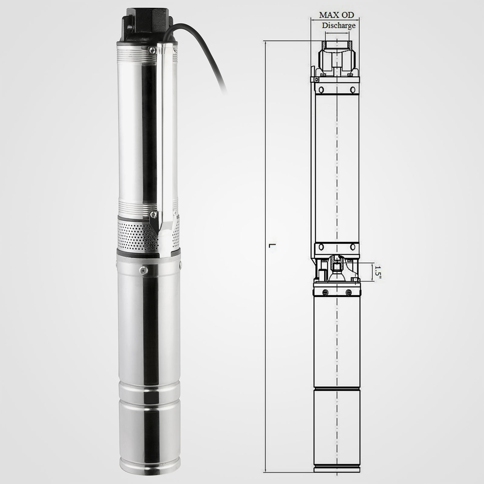 370w submersible bore water pump deep well irrigation 6. Black Bedroom Furniture Sets. Home Design Ideas
