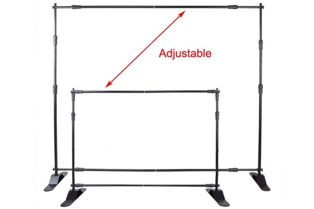 10 X 8 Step And Repeat Backdrop Telescopic Banner Stand