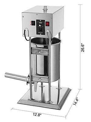 10L Electric Stainless Vertical Sausage Stuffer Meat Maker Filler Pork Stuffer