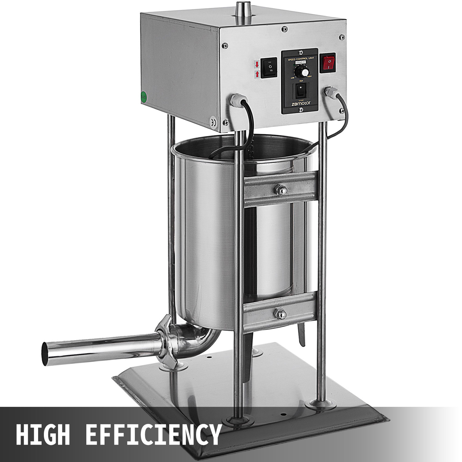 10L Electric Vertical Sausage Stuffer 25LB Two Speed Stainless Steel Manual
