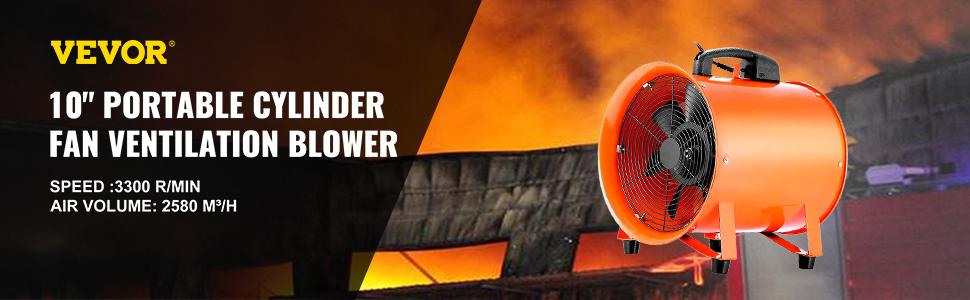 "10/"" Exhaust Fan Blower Ventilator Extractor Industrial Garage High Rotation"