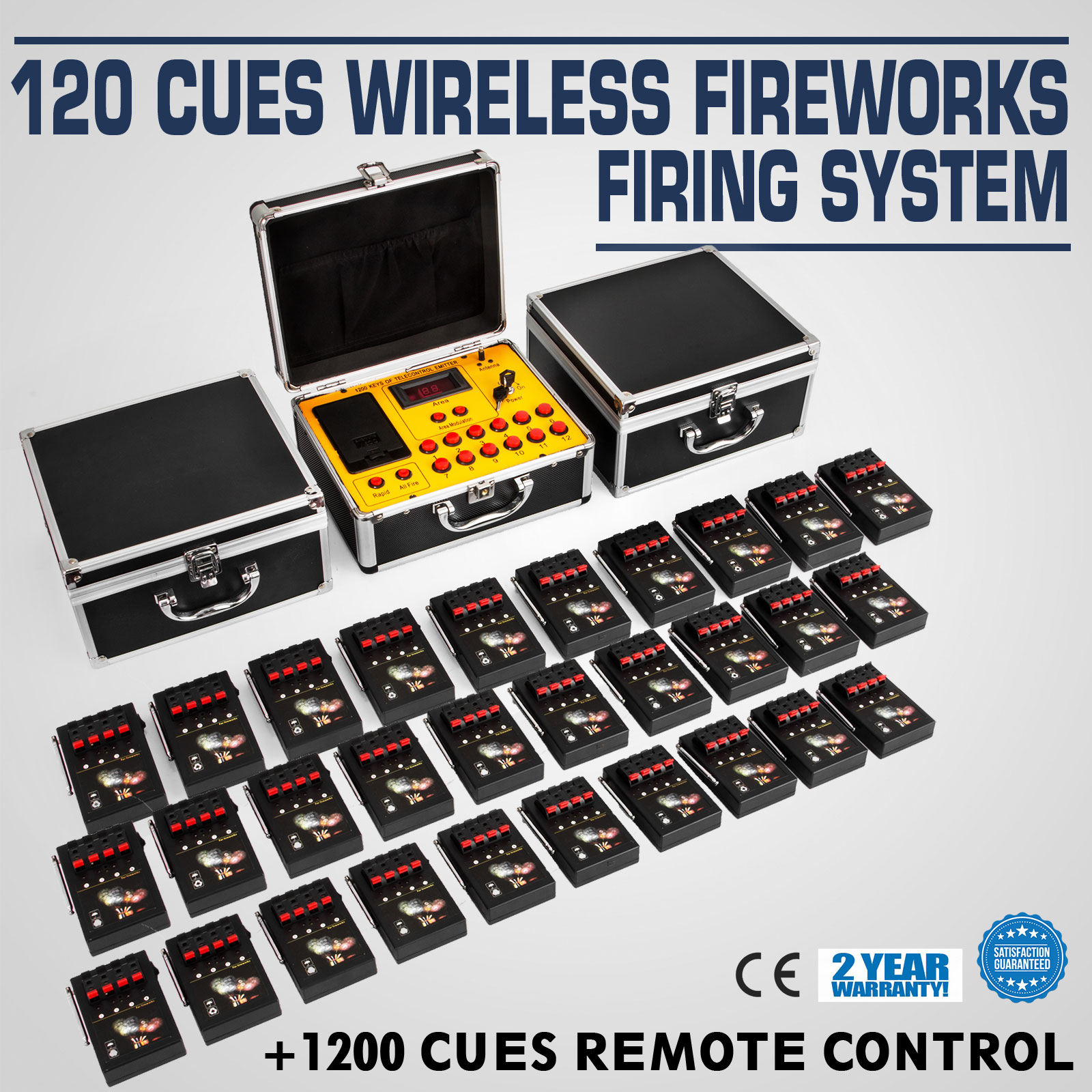 120 Cues Fireworks Firing System Electric Control Equipment Party New Year