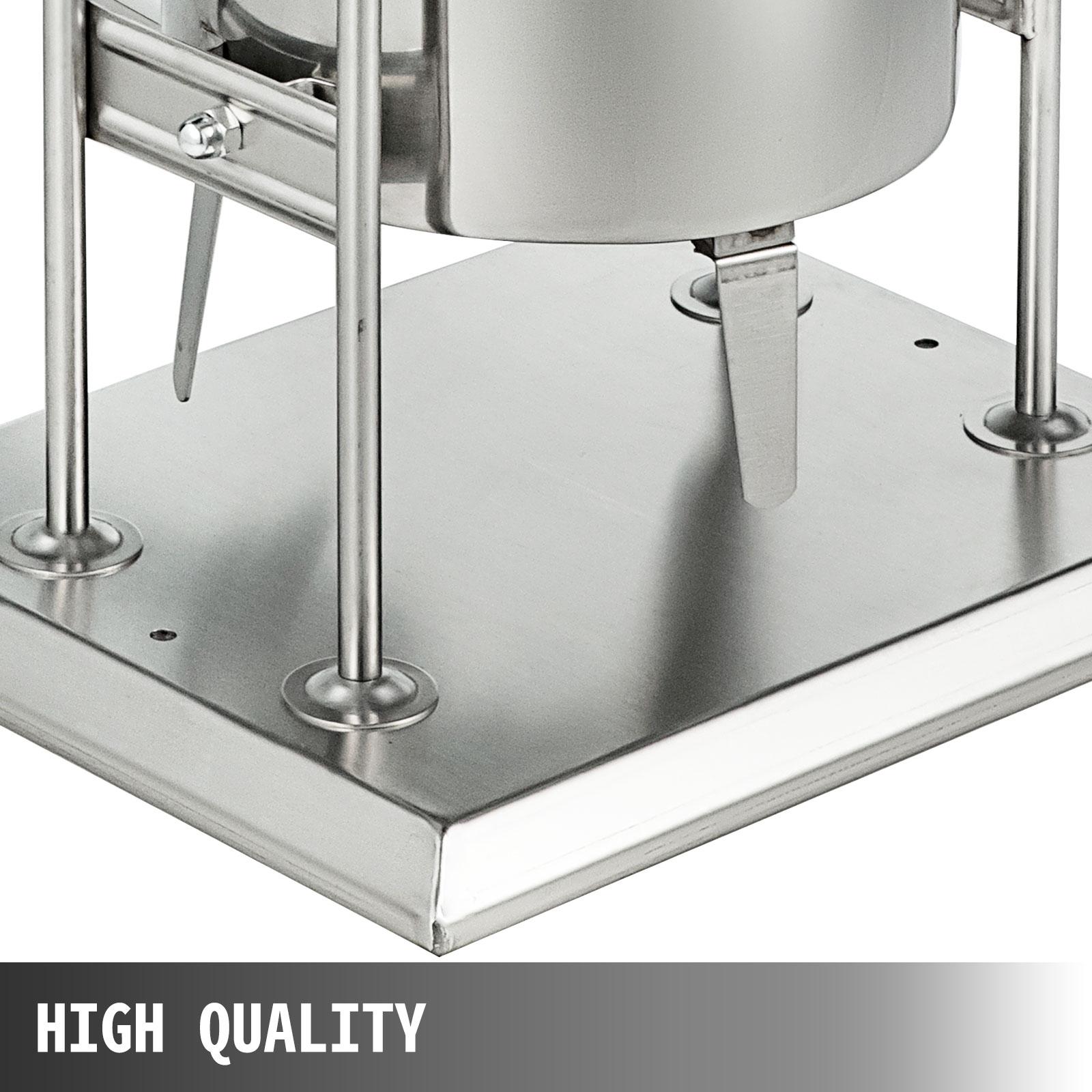 Lavable 12L Poussoir Machine à Saucisses Électrique 4xTubes Ø19,25,38,42mm