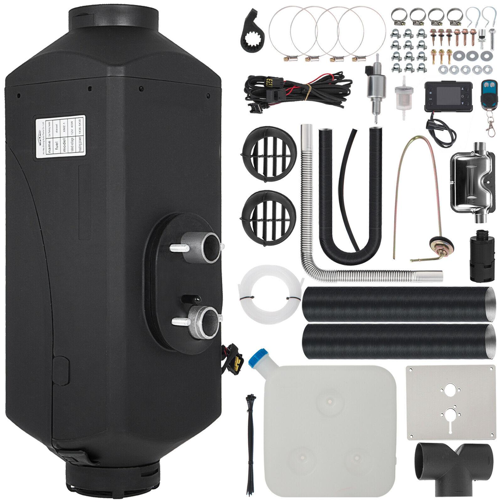 BuoQua Riscaldatore daria Diesel per Camion con un Design Compatto Camper 12V 5KW con Display LCD con Interruttore Digitale