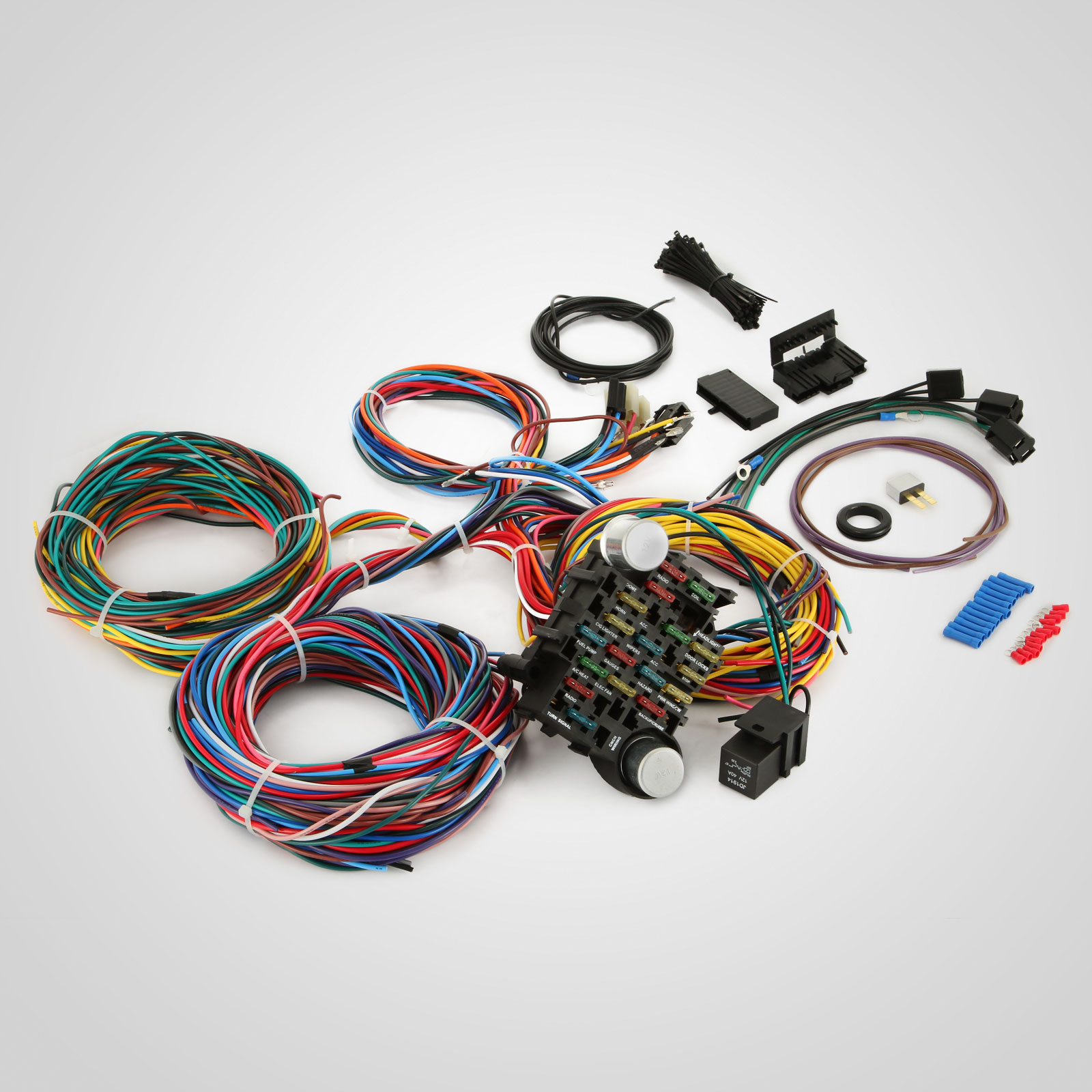 d513 3 real 12 circuit street rod wiring harness standard panel car truck street rod wiring harness at creativeand.co