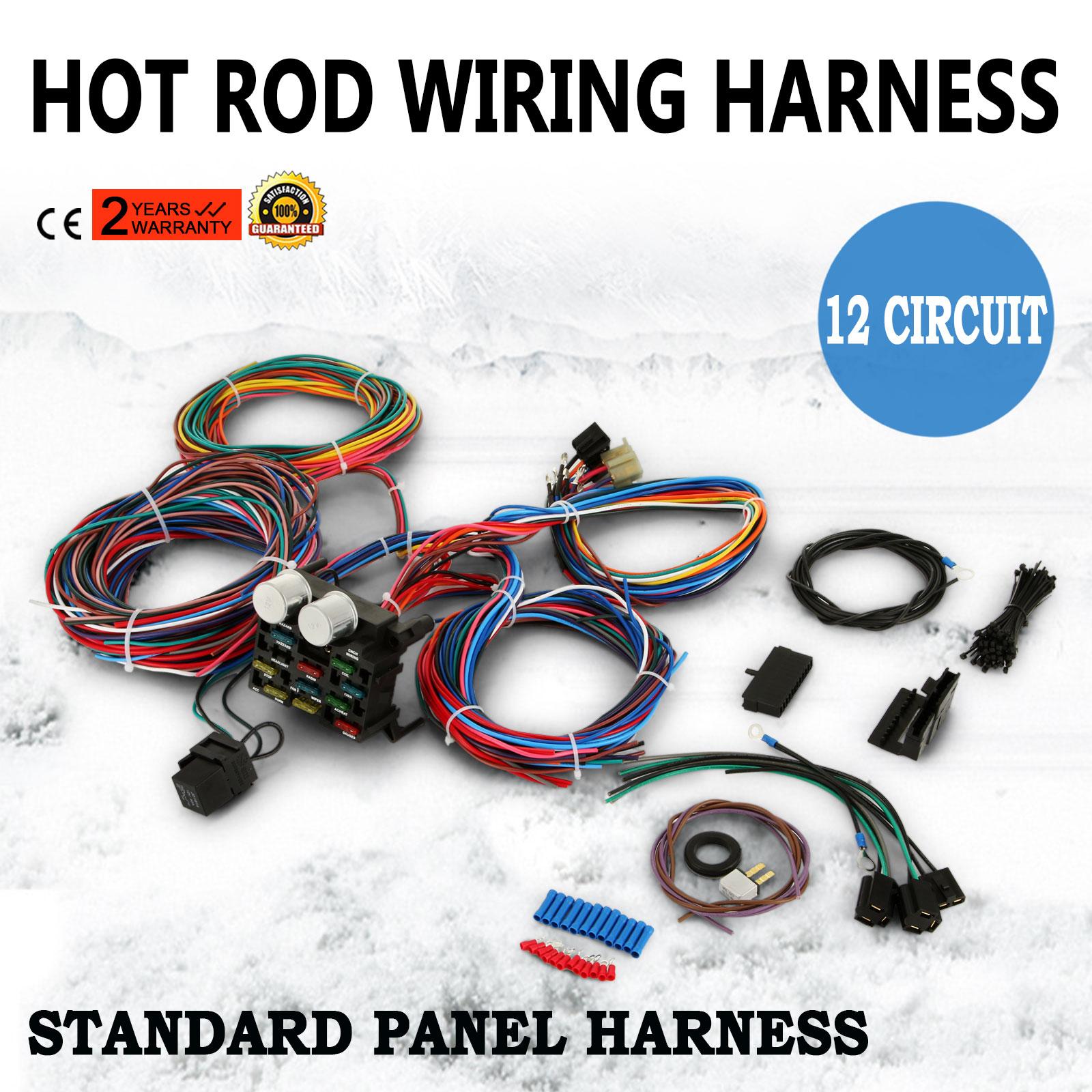 Pop 12 Circuit Harness Fuse Box Street Hot Rat Rod Wiring Car Truck New  800000141426 | eBay