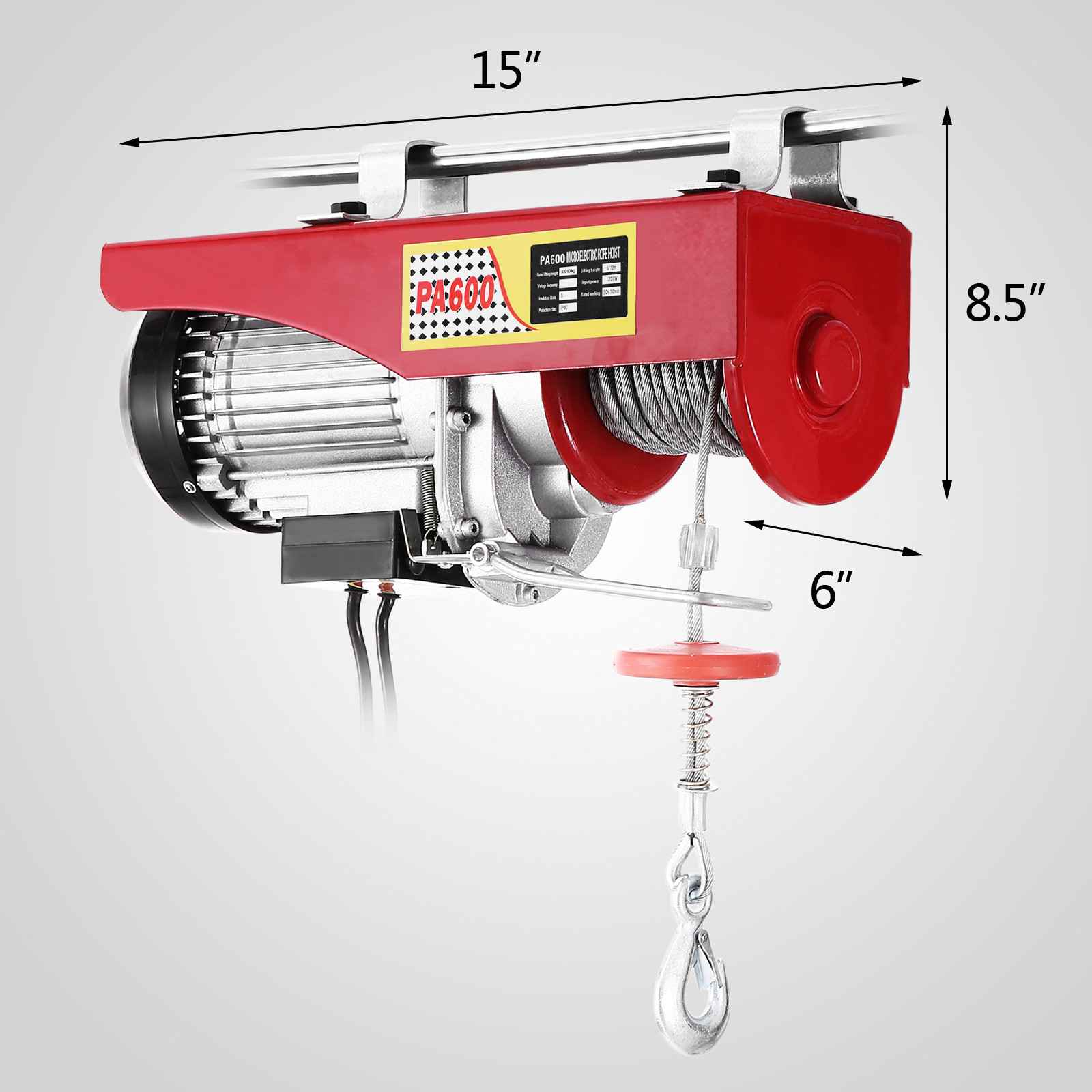 100kg-900kg-Electric-Hoist-Winch-Lifting-Engine-Crane-Cable-Lift-Hook-Garage miniature 38