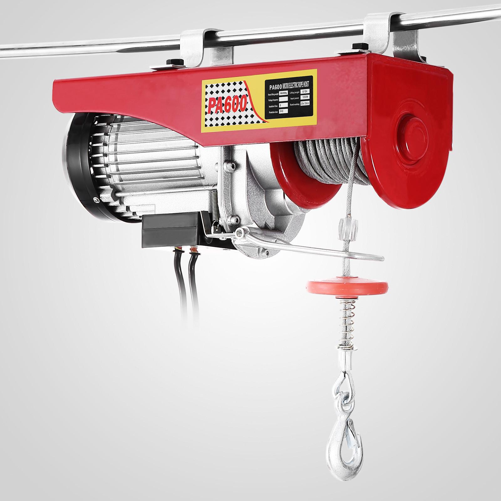 100kg-900kg-Electric-Hoist-Winch-Lifting-Engine-Crane-Cable-Lift-Hook-Garage miniature 39