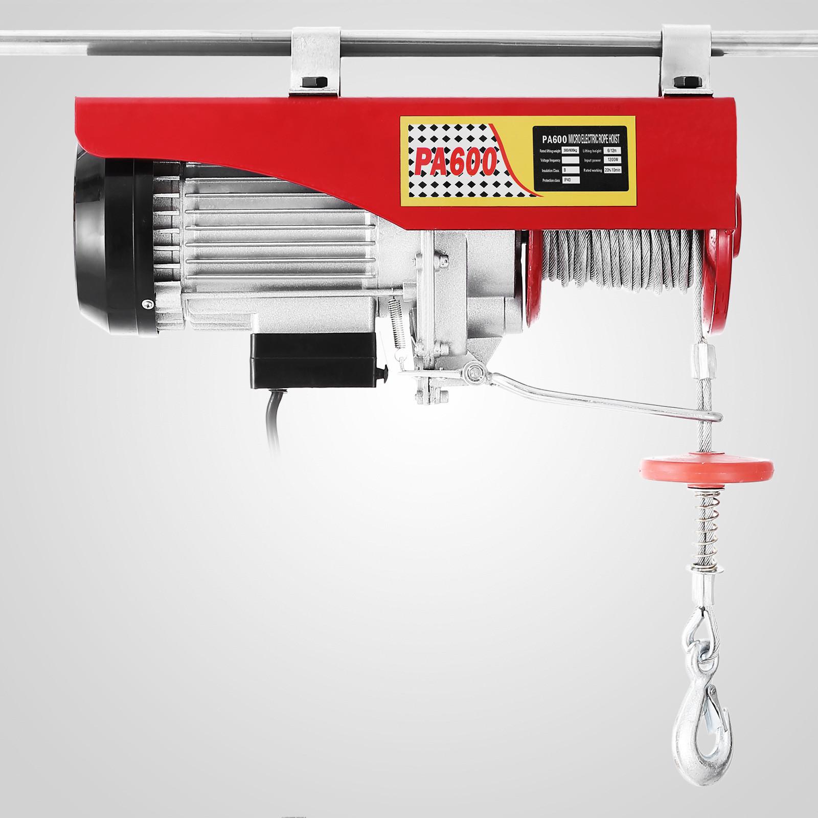 100kg-900kg-Electric-Hoist-Winch-Lifting-Engine-Crane-Cable-Lift-Hook-Garage miniature 40