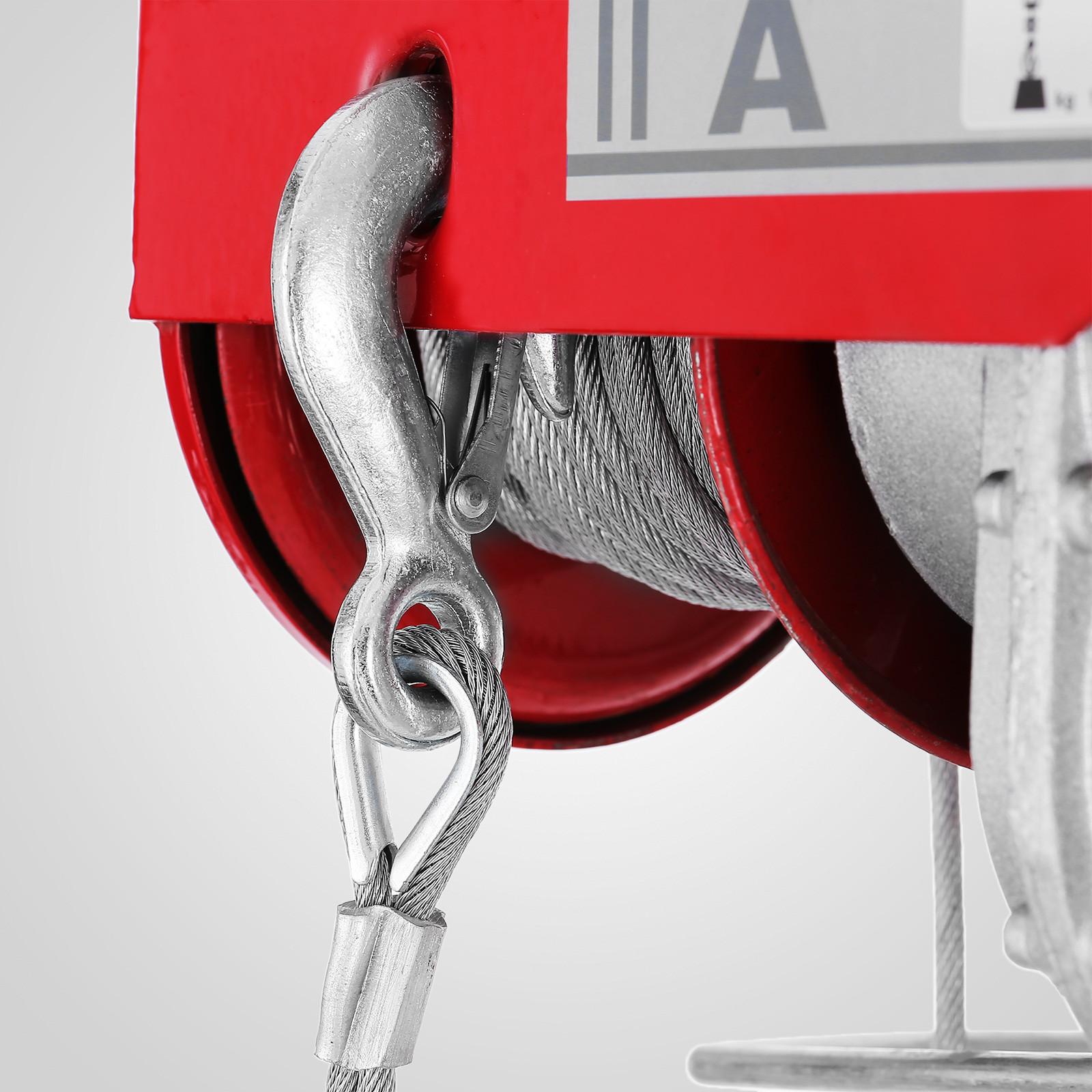 100kg-900kg-Electric-Hoist-Winch-Lifting-Engine-Crane-Cable-Lift-Hook-Garage miniature 45
