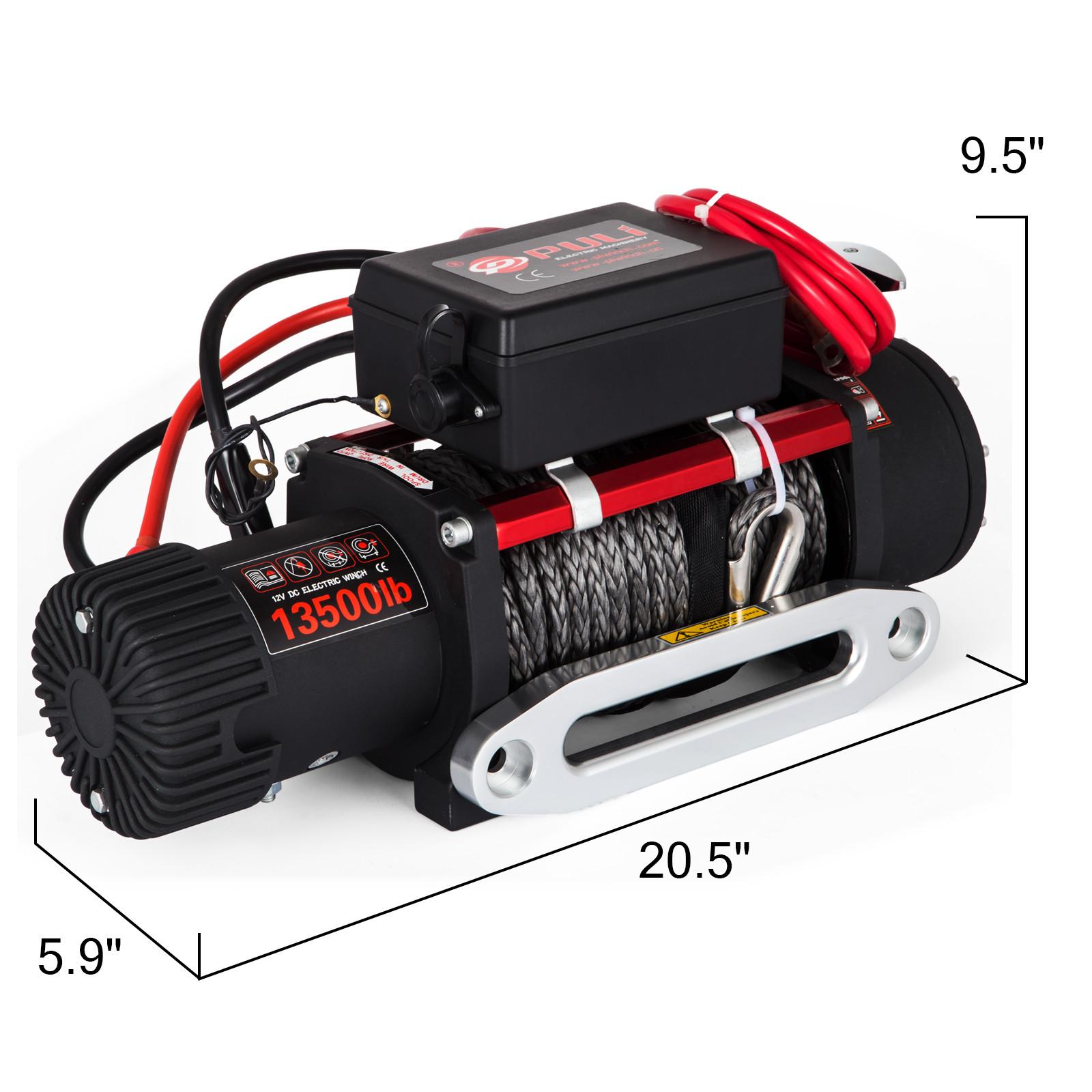 3000-4000-6000-13500LBS-12V-Verricello-elettrico-Filo-Auto-Suv miniatura 75