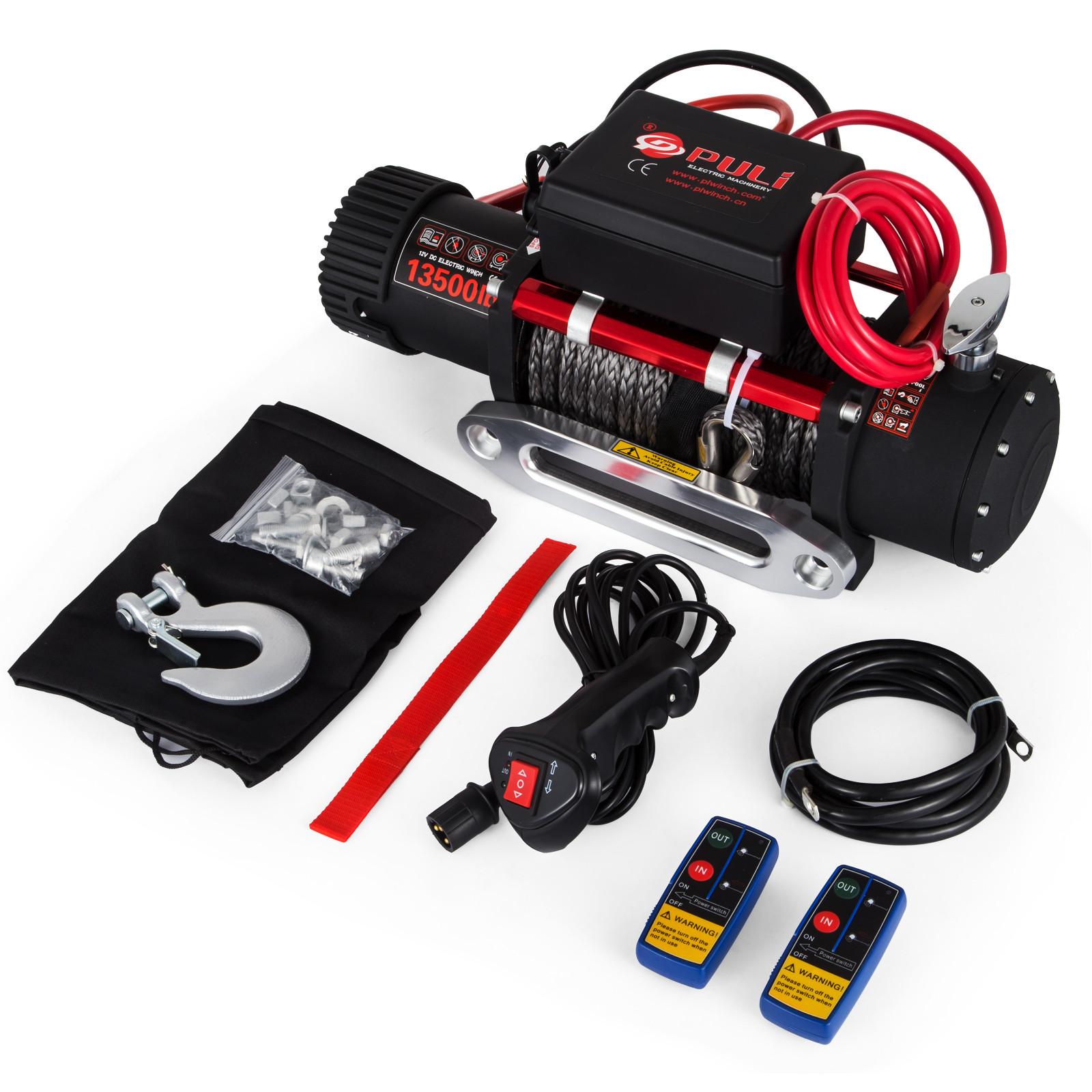 3000-4000-6000-13500LBS-12V-Verricello-elettrico-Filo-Auto-Suv miniatura 76