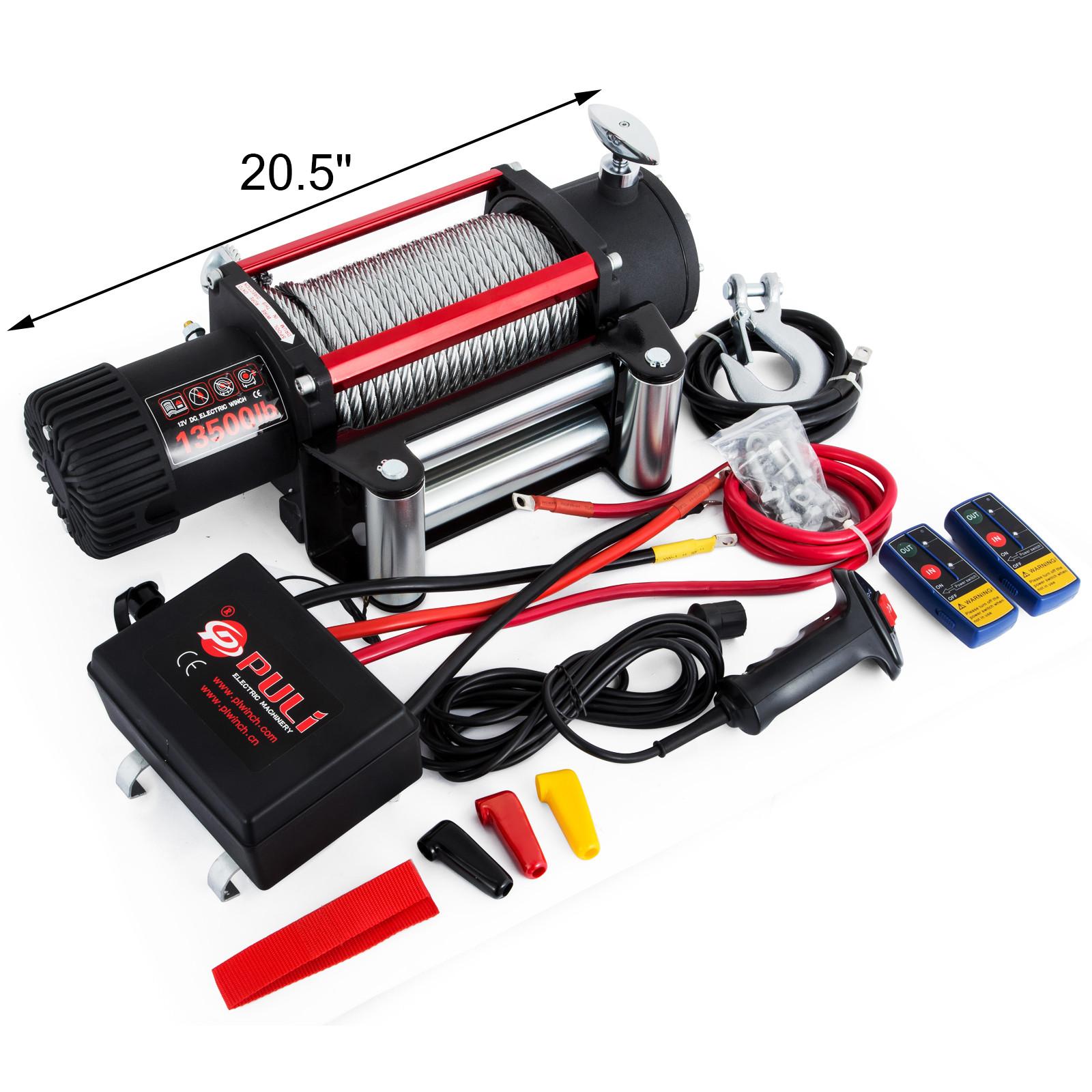 3000-4000-6000-13500LBS-12V-Verricello-elettrico-Filo-Auto-Suv miniatura 50