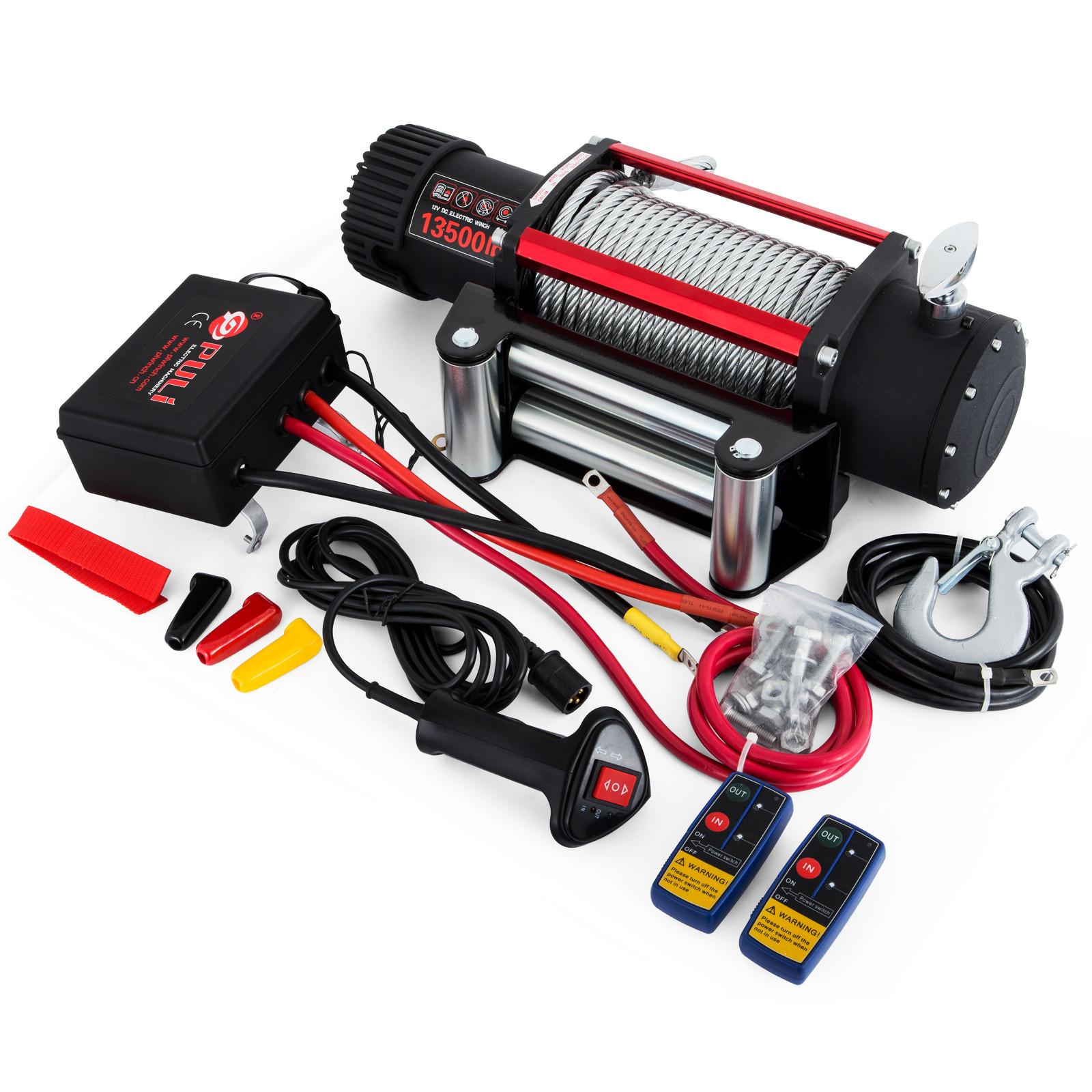 3000-4000-6000-13500LBS-12V-Verricello-elettrico-Filo-Auto-Suv miniatura 52