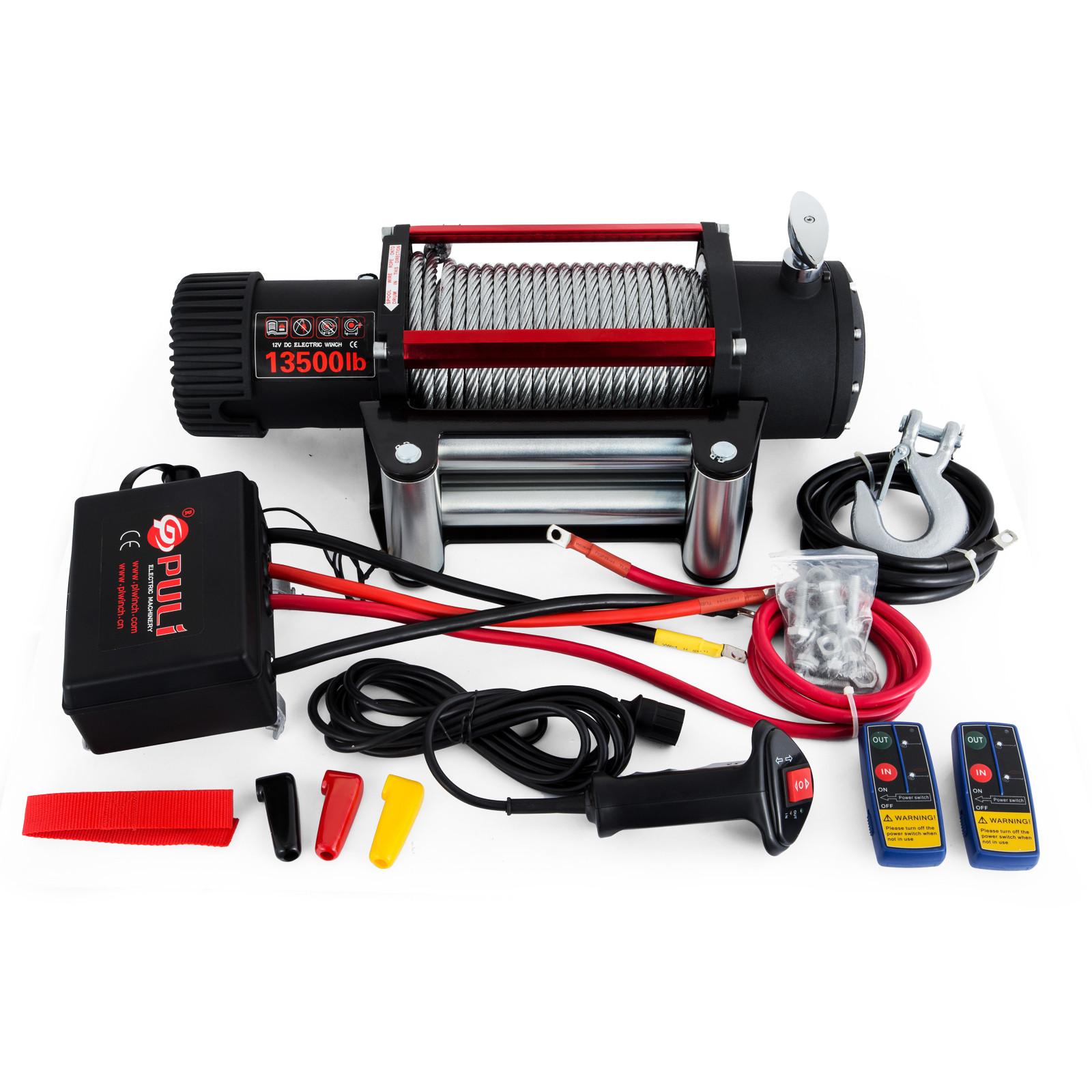 3000-4000-6000-13500LBS-12V-Verricello-elettrico-Filo-Auto-Suv miniatura 53