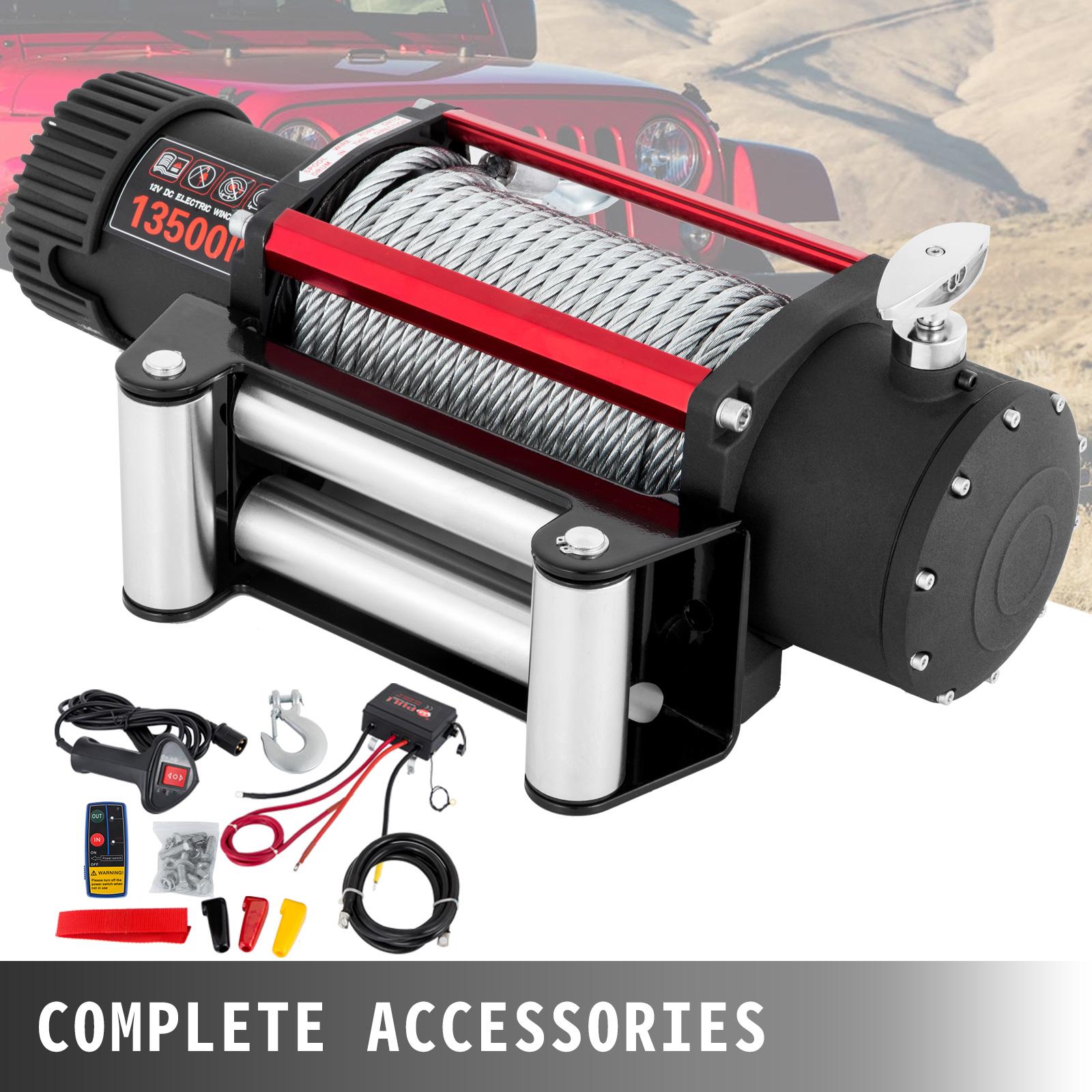 3000-4000-6000-13500LBS-12V-Verricello-elettrico-Filo-Auto-Suv miniatura 54