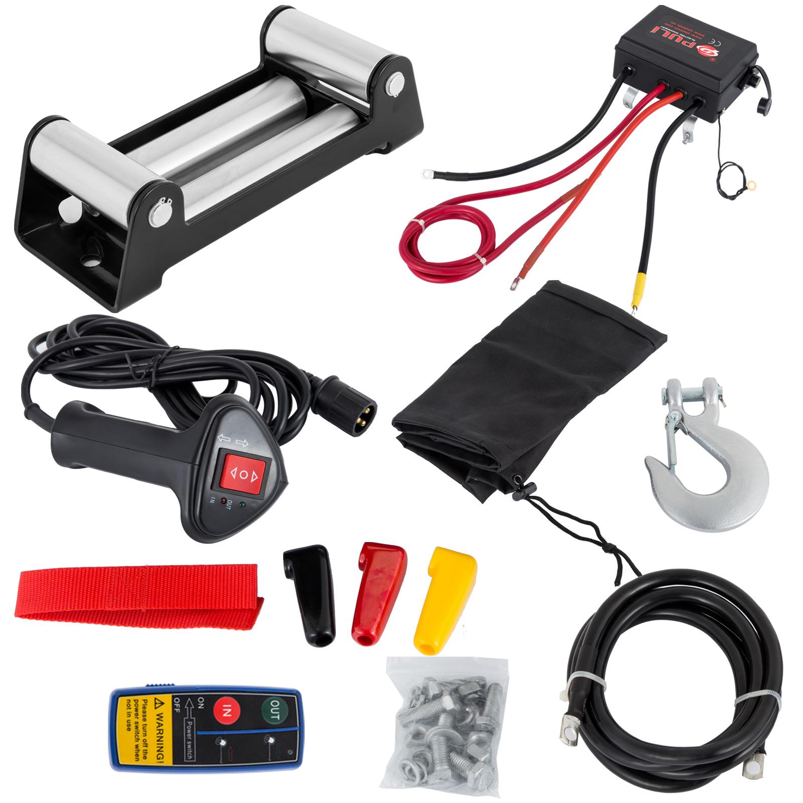 3000-4000-6000-13500LBS-12V-Verricello-elettrico-Filo-Auto-Suv miniatura 57