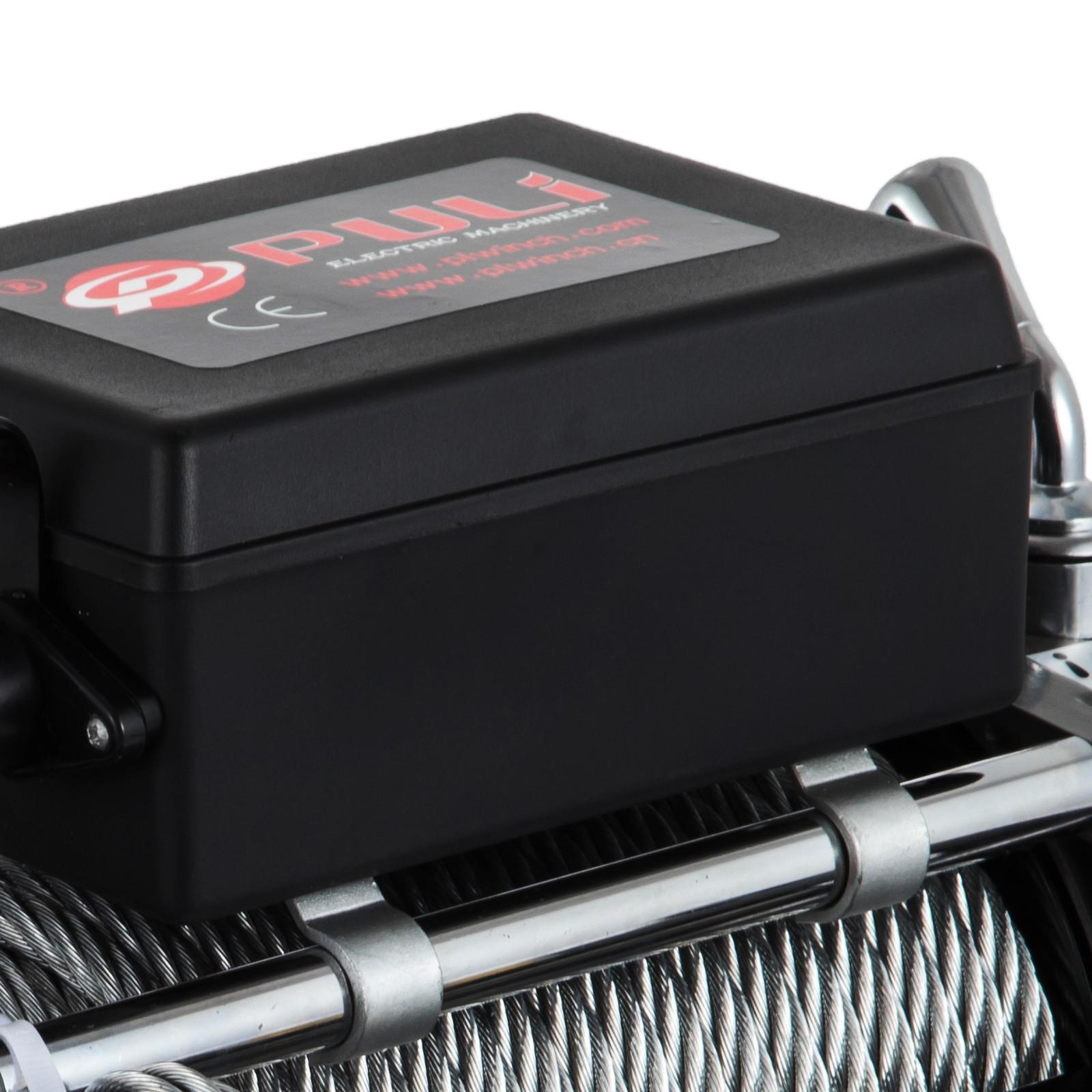 3000-4000-6000-13500LBS-12V-Verricello-elettrico-Filo-Auto-Suv miniatura 70