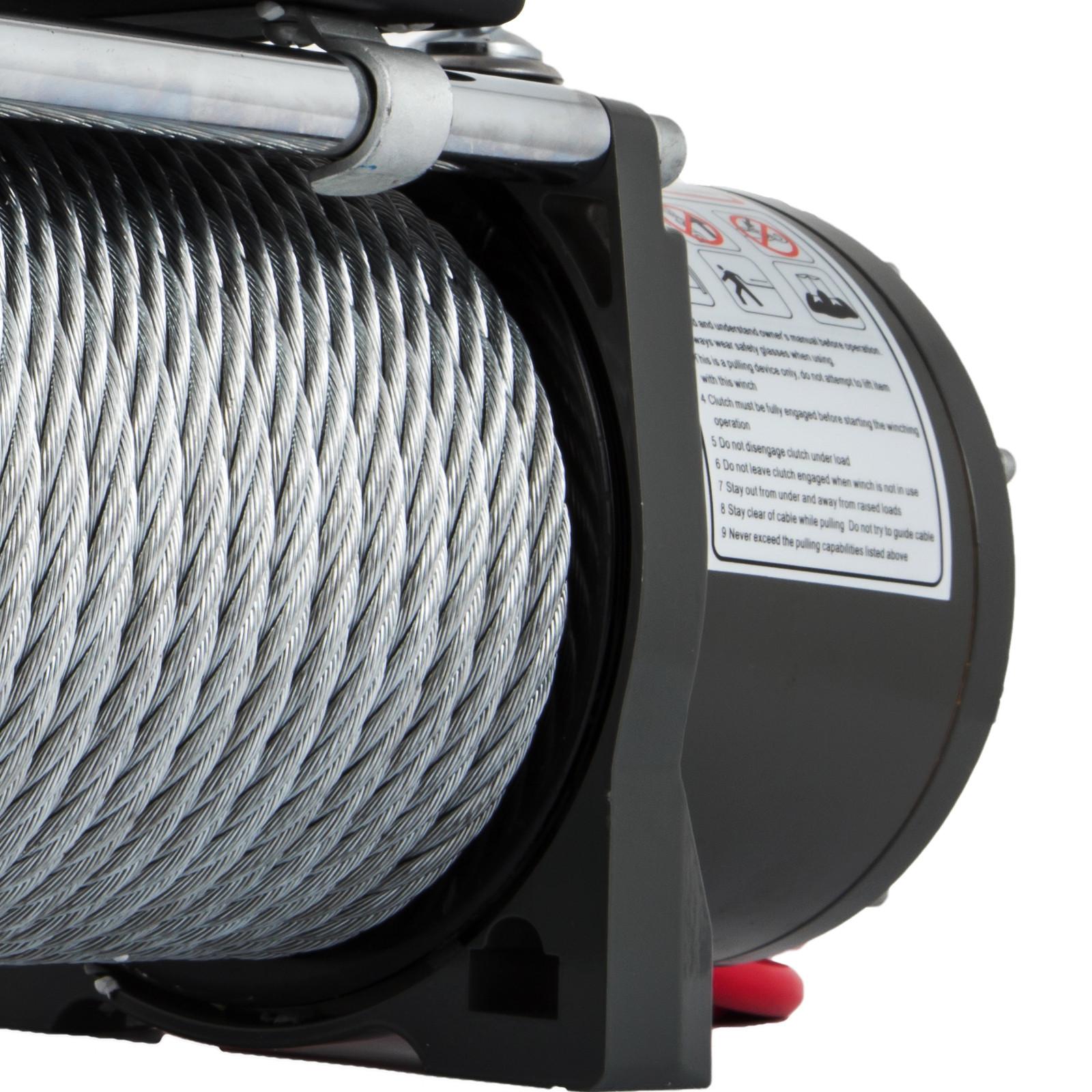 3000-4000-6000-13500LBS-12V-Verricello-elettrico-Filo-Auto-Suv miniatura 72