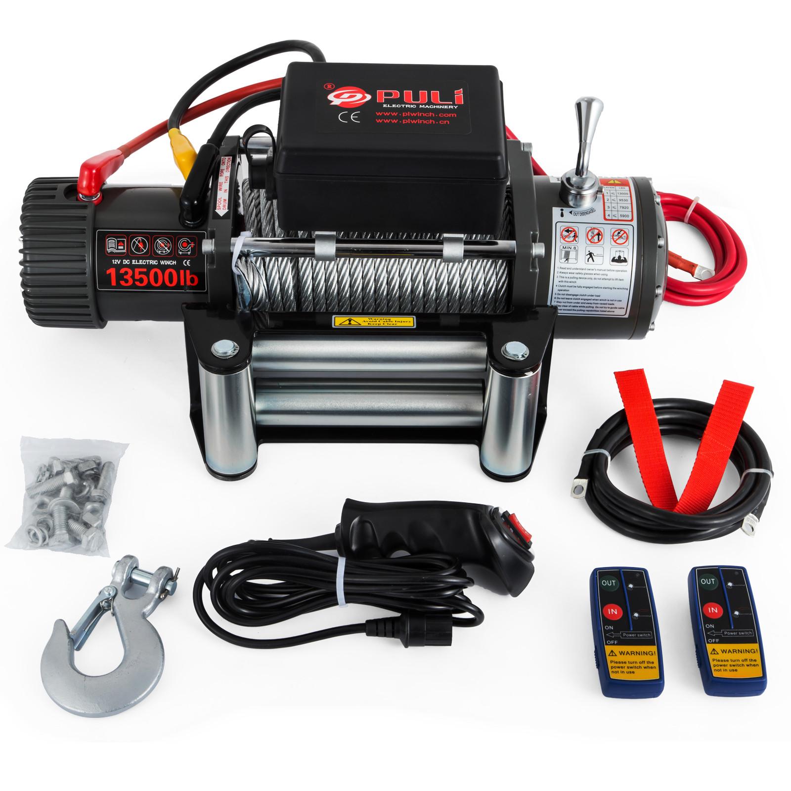 3000-4000-6000-13500LBS-12V-Verricello-elettrico-Filo-Auto-Suv miniatura 62