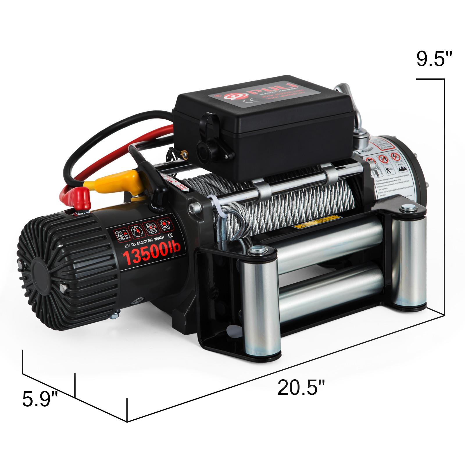 3000-4000-6000-13500LBS-12V-Verricello-elettrico-Filo-Auto-Suv miniatura 63