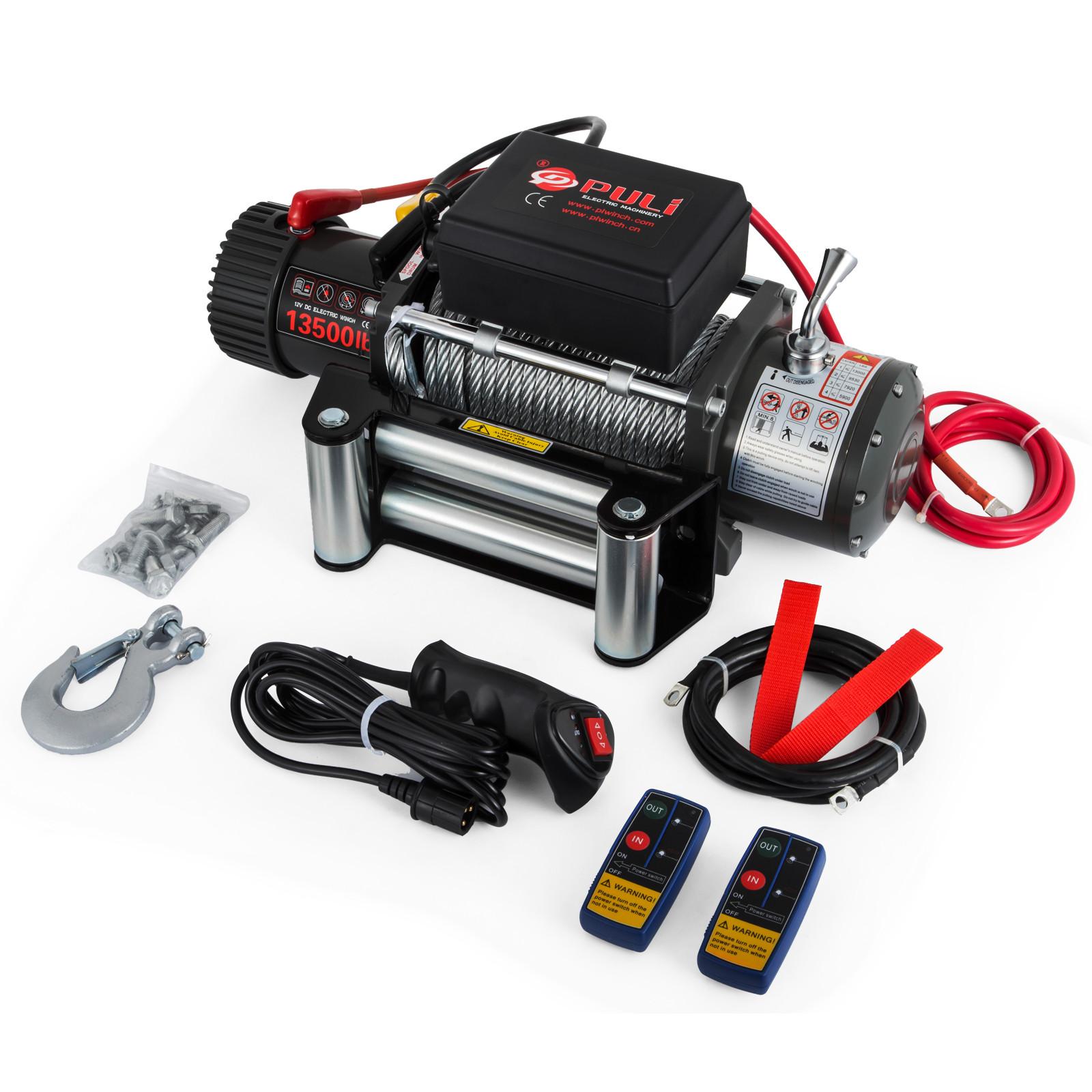 3000-4000-6000-13500LBS-12V-Verricello-elettrico-Filo-Auto-Suv miniatura 64