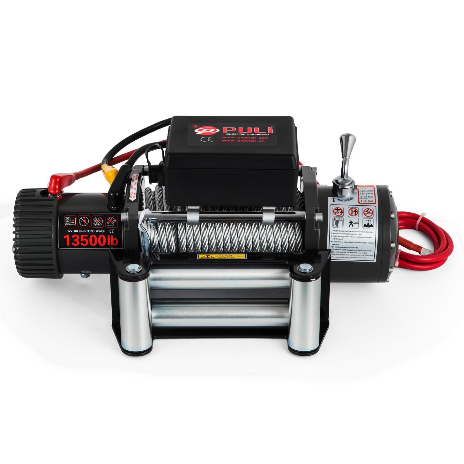 3000-4000-6000-13500LBS-12V-Verricello-elettrico-Filo-Auto-Suv miniatura 65
