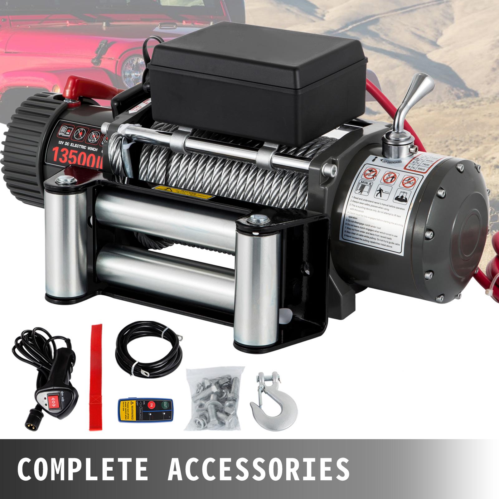 3000-4000-6000-13500LBS-12V-Verricello-elettrico-Filo-Auto-Suv miniatura 66