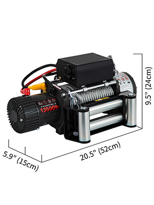 Electric Truck Winch,13500lbs,Steel Cable