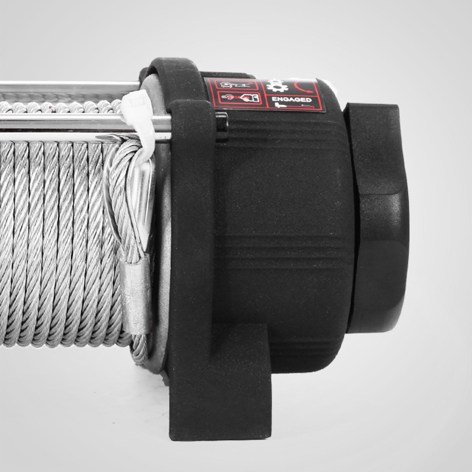 3000-4000-6000-13500LBS-12V-Verricello-elettrico-Filo-Auto-Suv miniatura 23