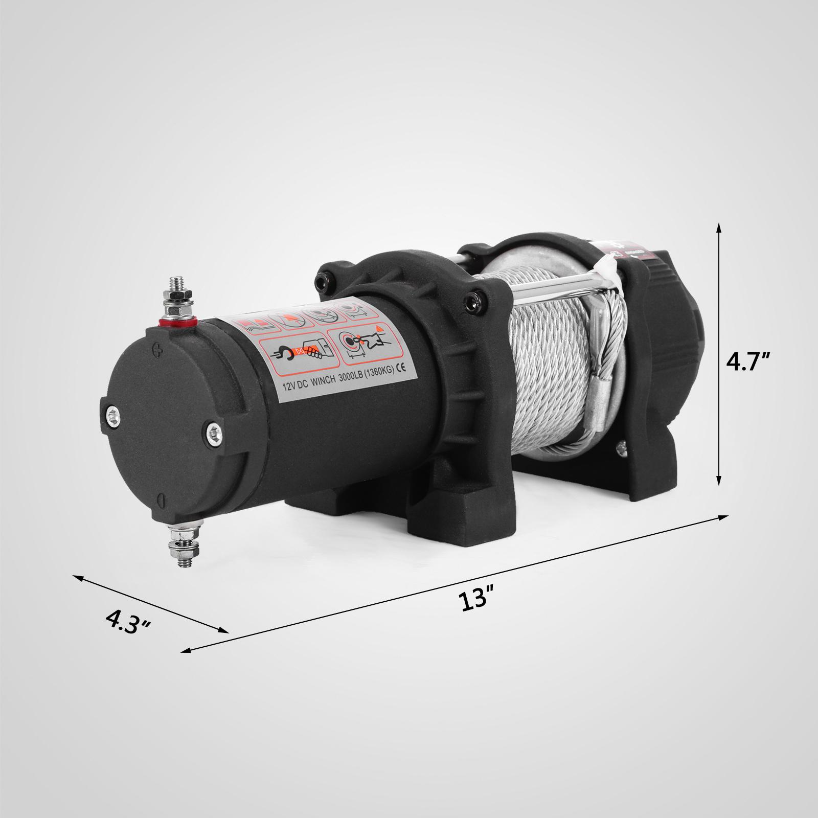 3000-4000-6000-13500LBS-12V-Verricello-elettrico-Filo-Auto-Suv miniatura 14