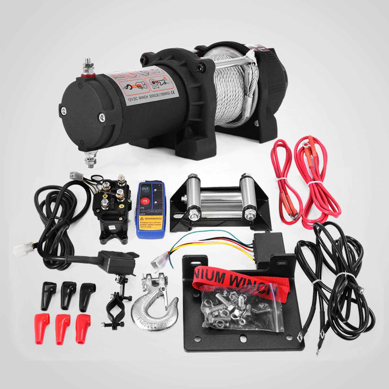 3000-4000-6000-13500LBS-12V-Verricello-elettrico-Filo-Auto-Suv miniatura 15