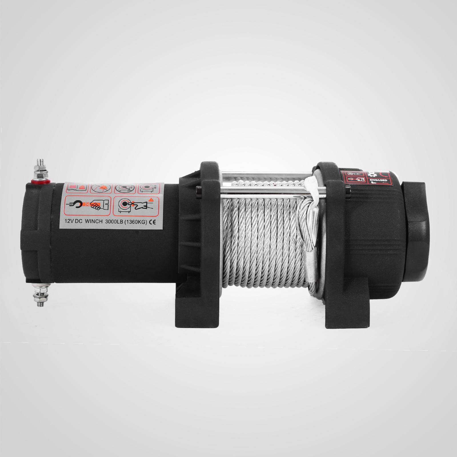 3000-4000-6000-13500LBS-12V-Verricello-elettrico-Filo-Auto-Suv miniatura 16