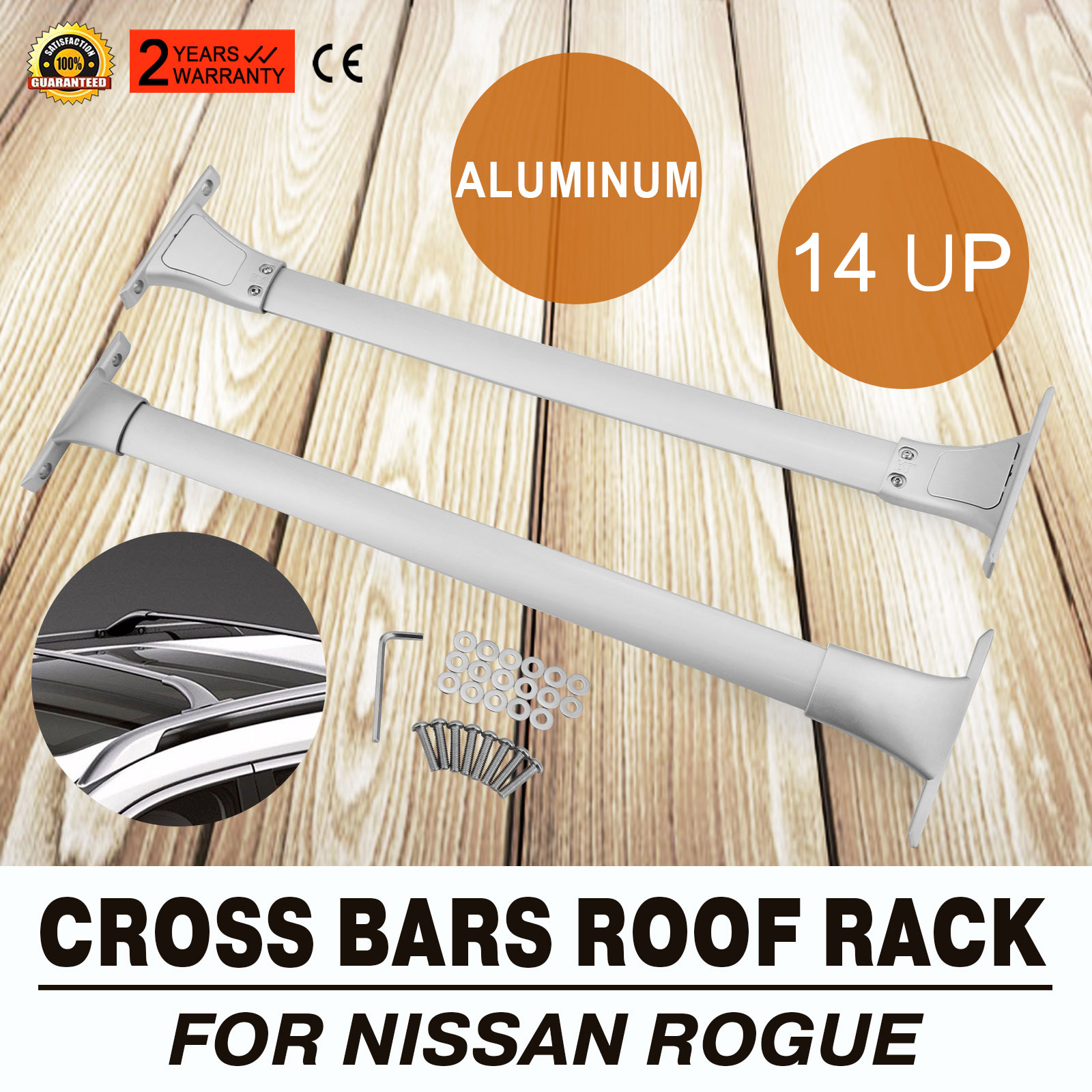 Sure Fit 14 19 Nissan Rogue 4dr Cross Bar Top Roof Rack