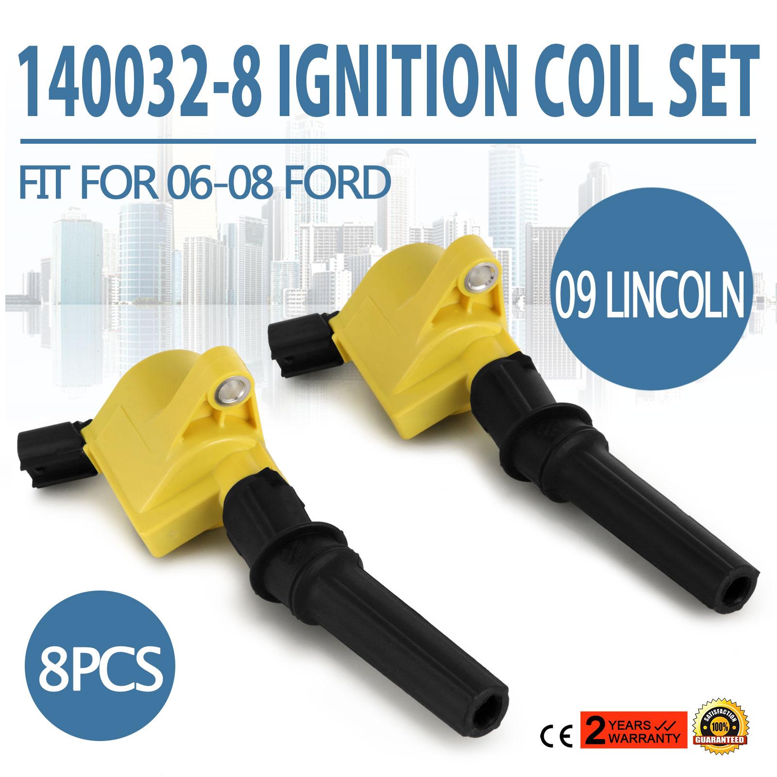 Accel 140032-8 Super Coil Ignition Coil Set 1998-2008 Ford 4.6//5.4 2-valve