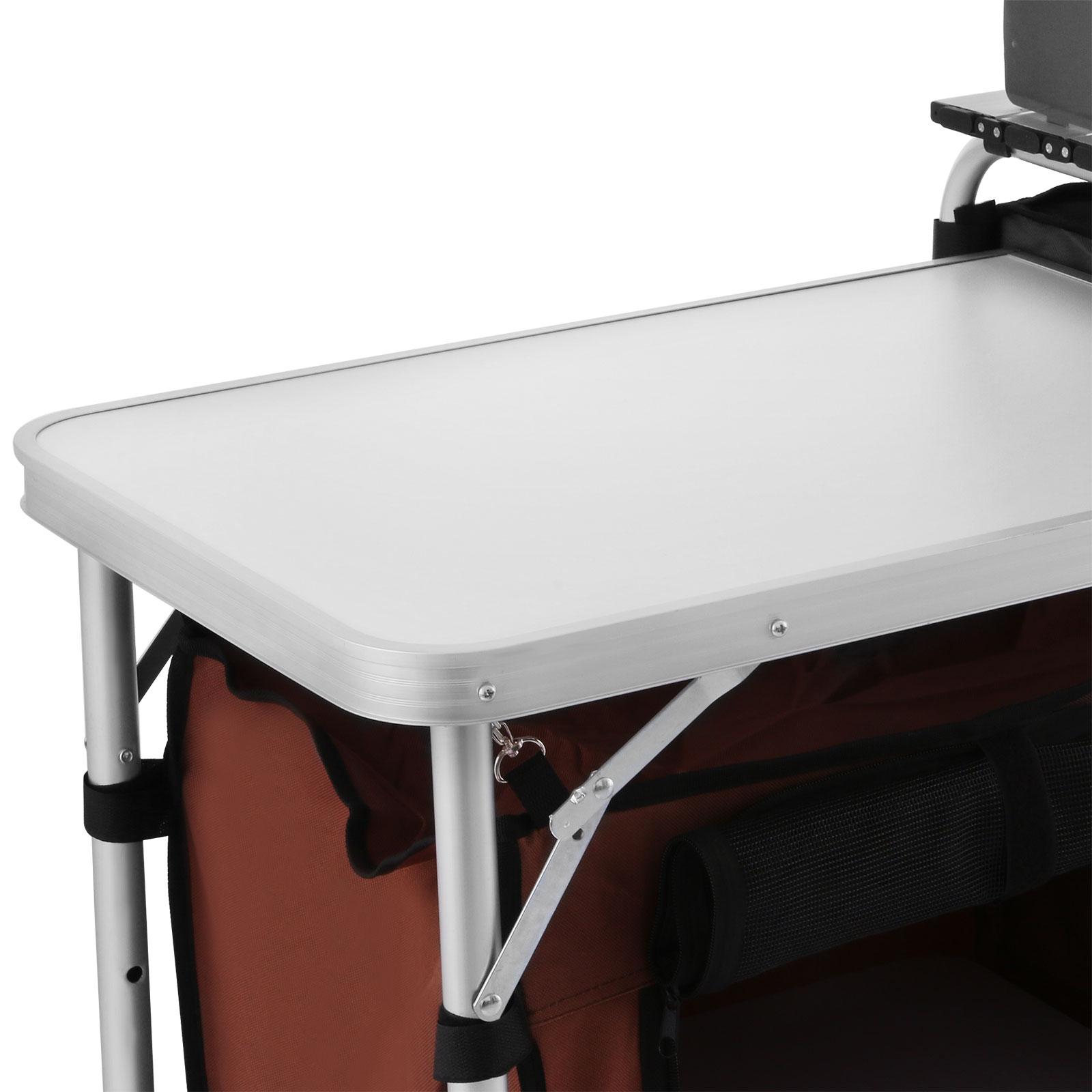 camping kitchen cooking table food prep food storage adjustable folding 245496290737 ebay. Black Bedroom Furniture Sets. Home Design Ideas
