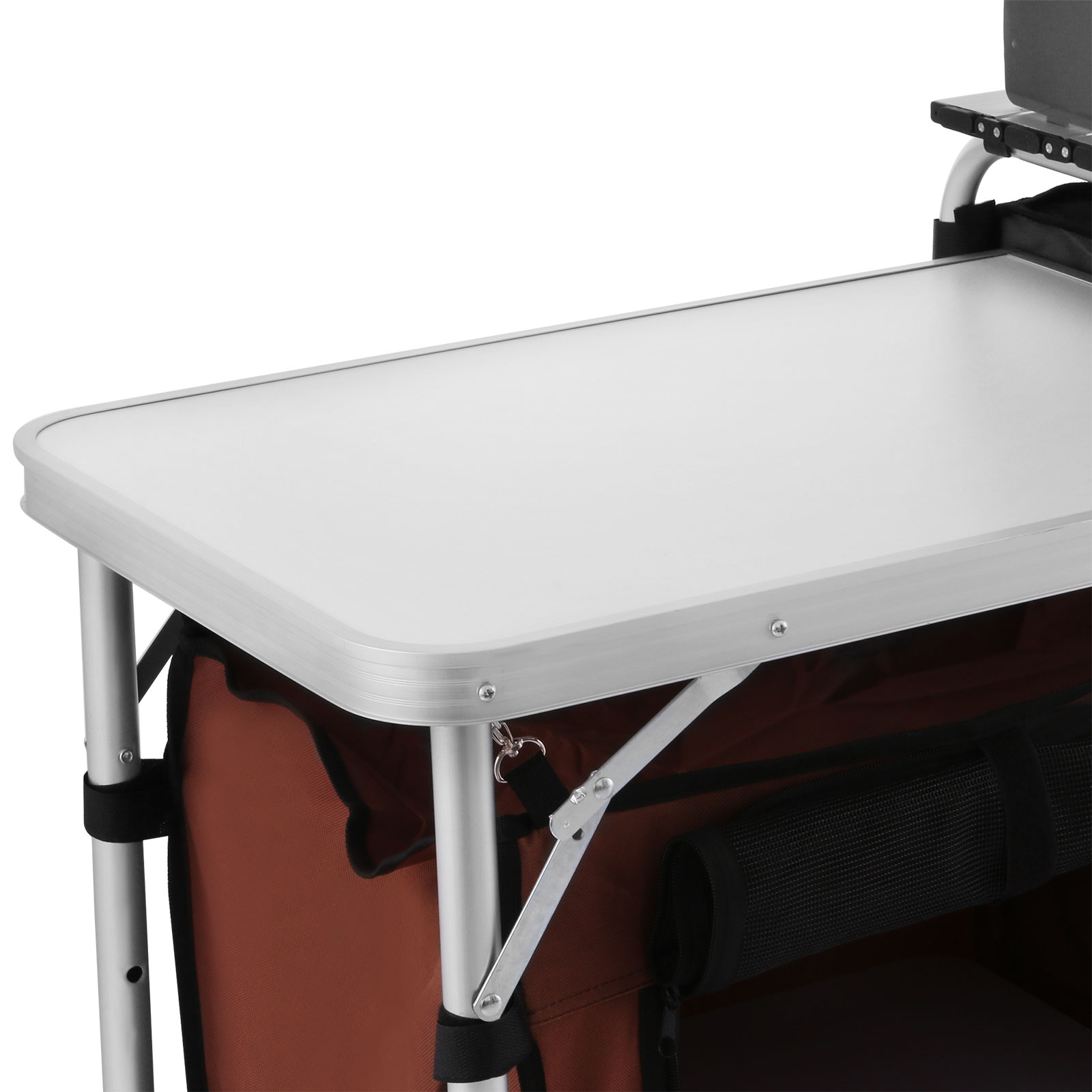 Camping kitchen cooking table food prep food storage adjustable folding 241364323514 ebay - Table retractable cuisine ...