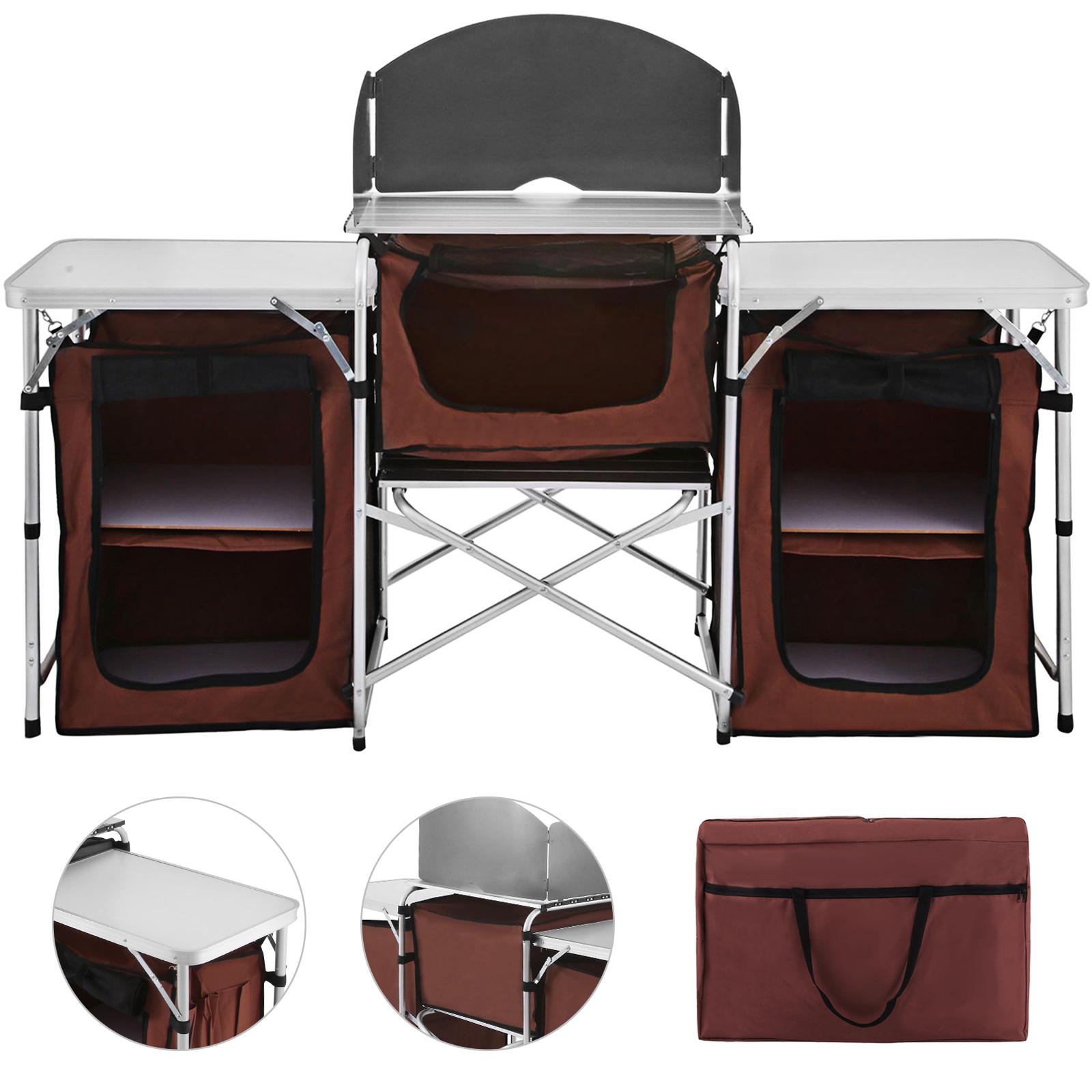 Campingküche, Camping-Küchentisch, Kocherschrank, Outwell Richmond ...