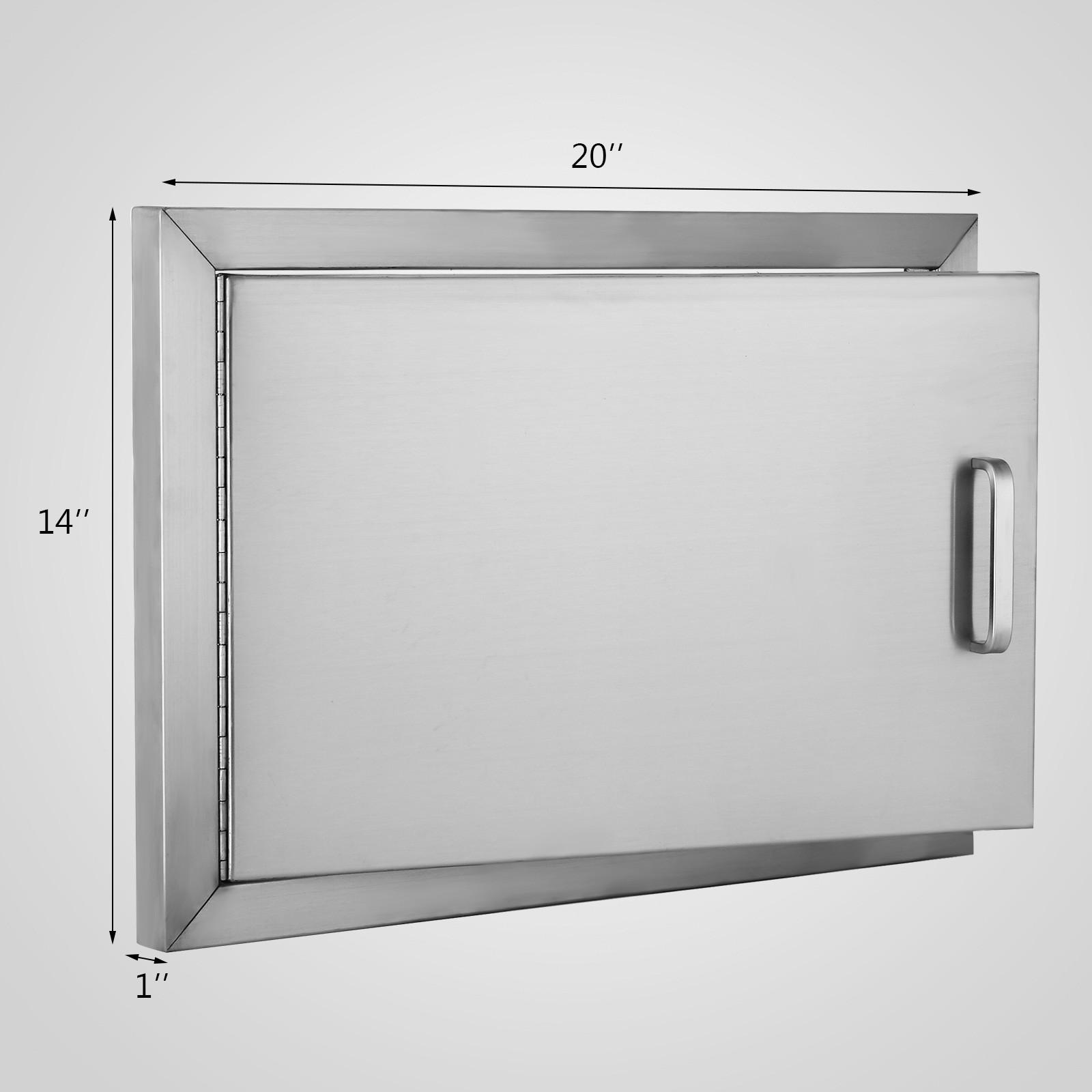 35X50cm(HxW) Küche Tür Edelstahl BBQ Island Tür Lager Draussen ...
