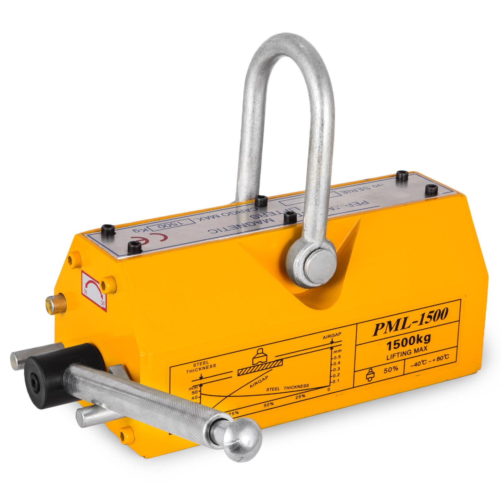 100-300-600-1000KG-Steel-Magnetic-Lifter-Heavy-Duty-Crane-Hoist-Lifting-Magnet miniature 76